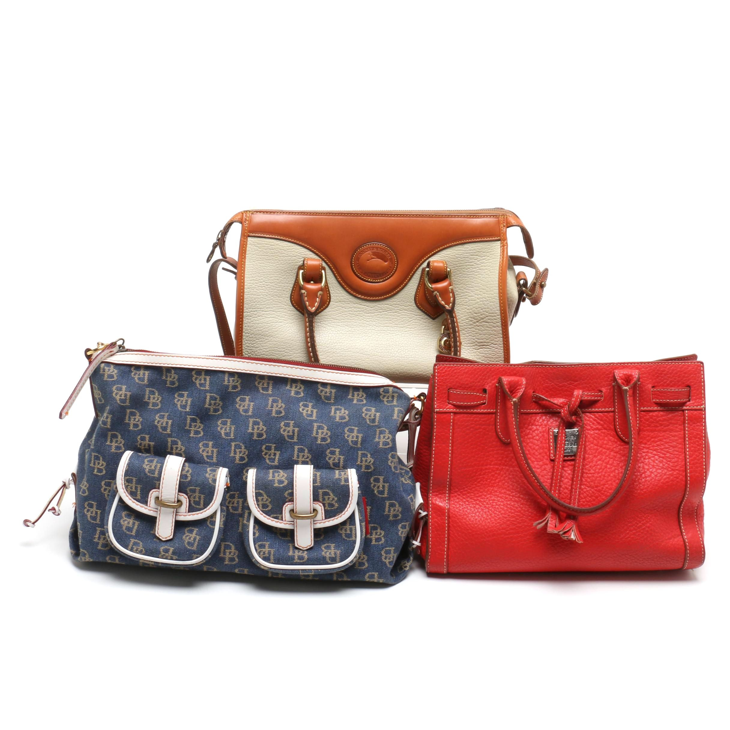 Dooney & Bourke Leather and Canvas and Leather Shoulder Bags