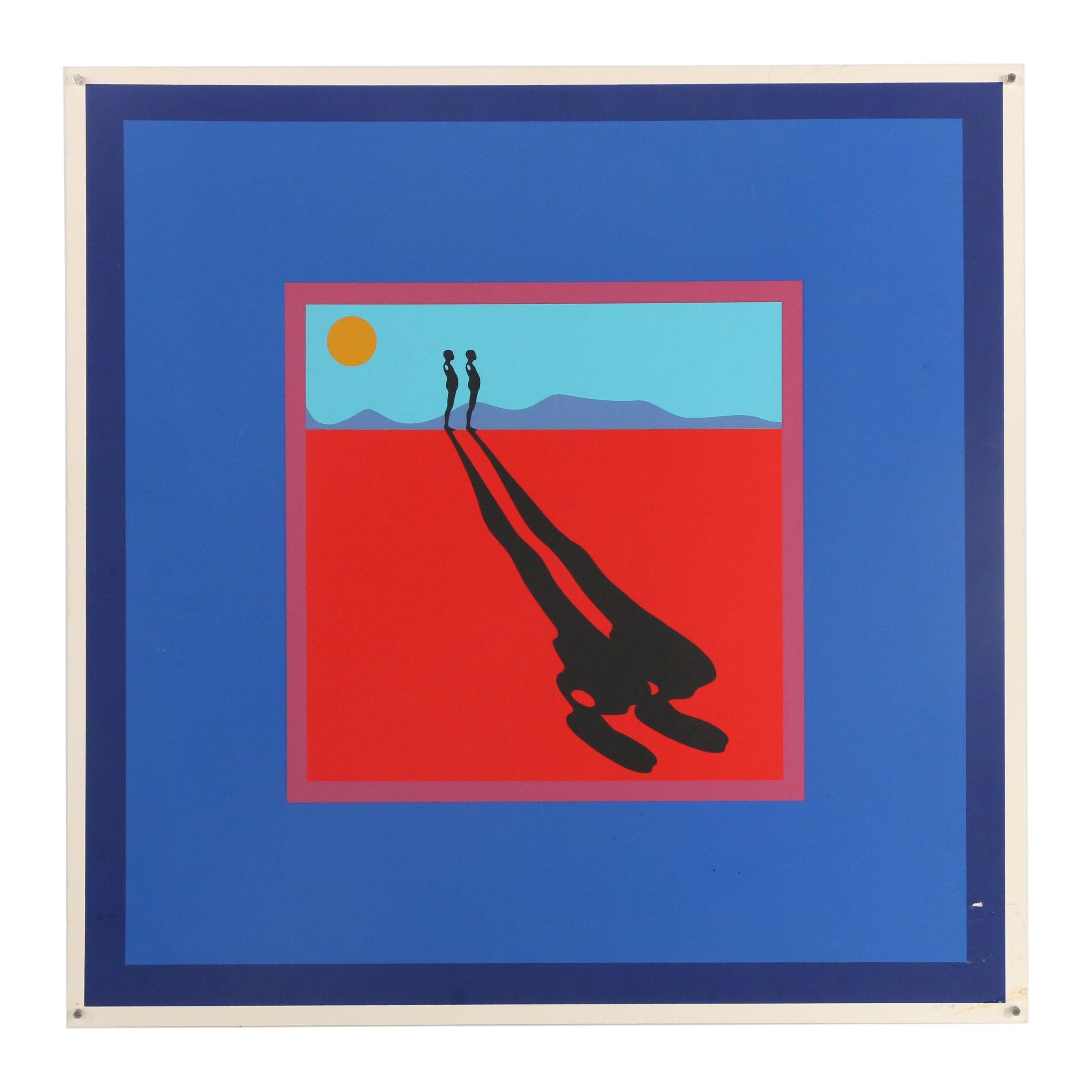 """Ernest Tino Trova Serigraph """"Shadows, Planes, & Targets"""""""