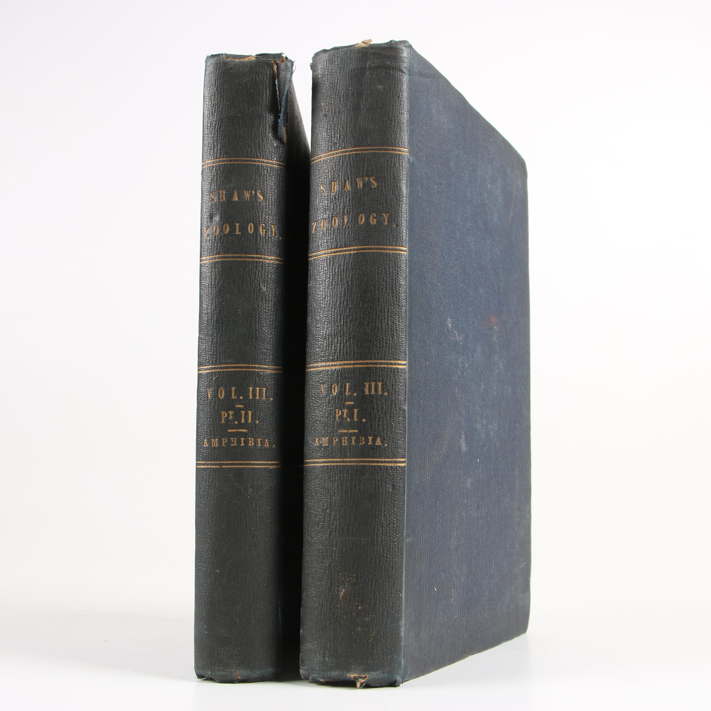 """1802 """"General Zoology, or Systematic Natural History"""" Vol. III by George Shaw"""