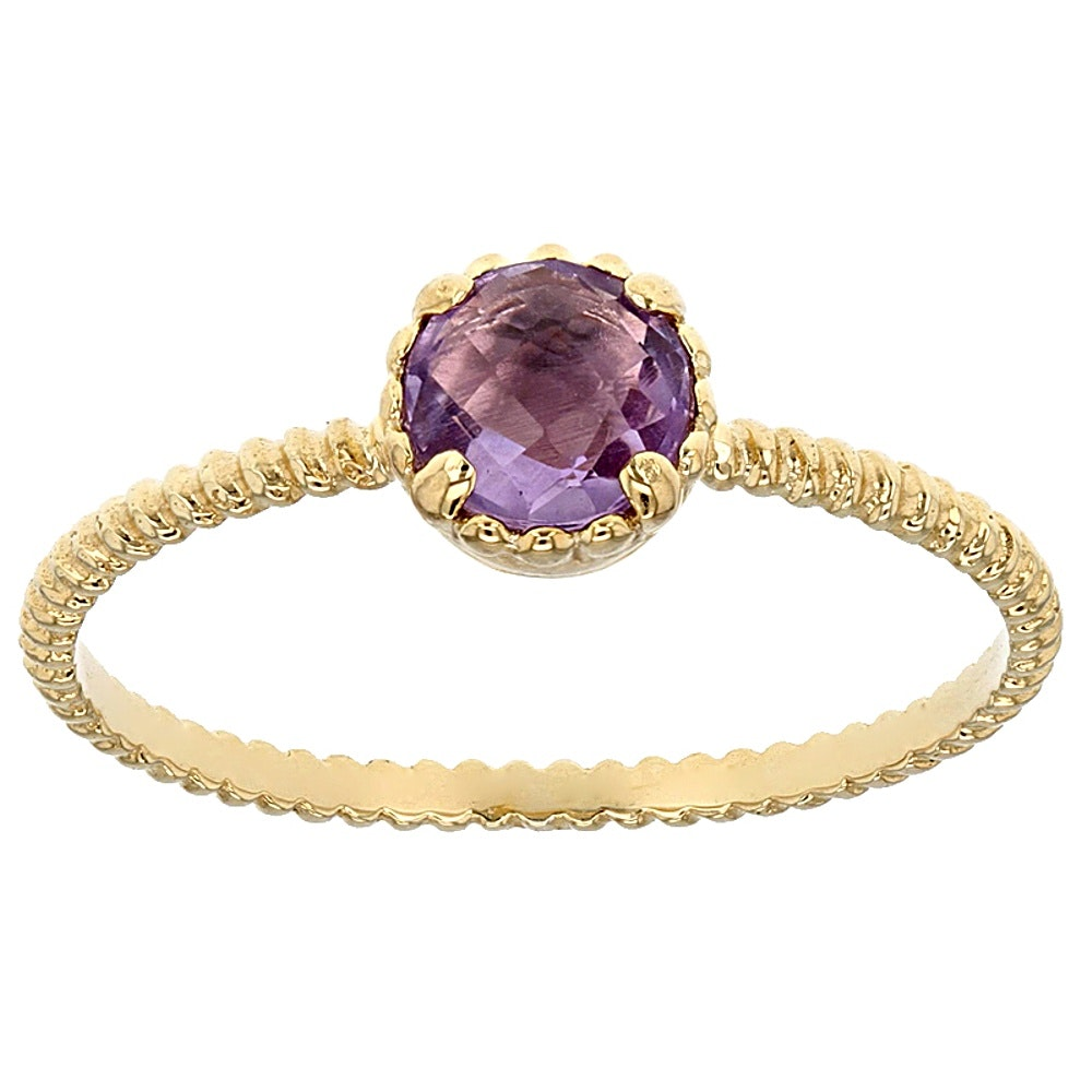 14K Yellow Gold Amethyst Ring