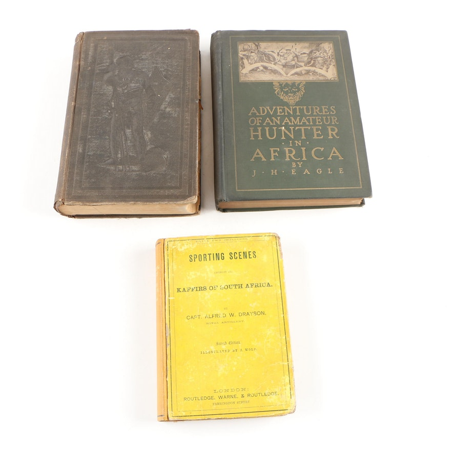 """African Game Hunting Books featuring Signed """"Adventures"""" by John H. Eagle, 1915"""