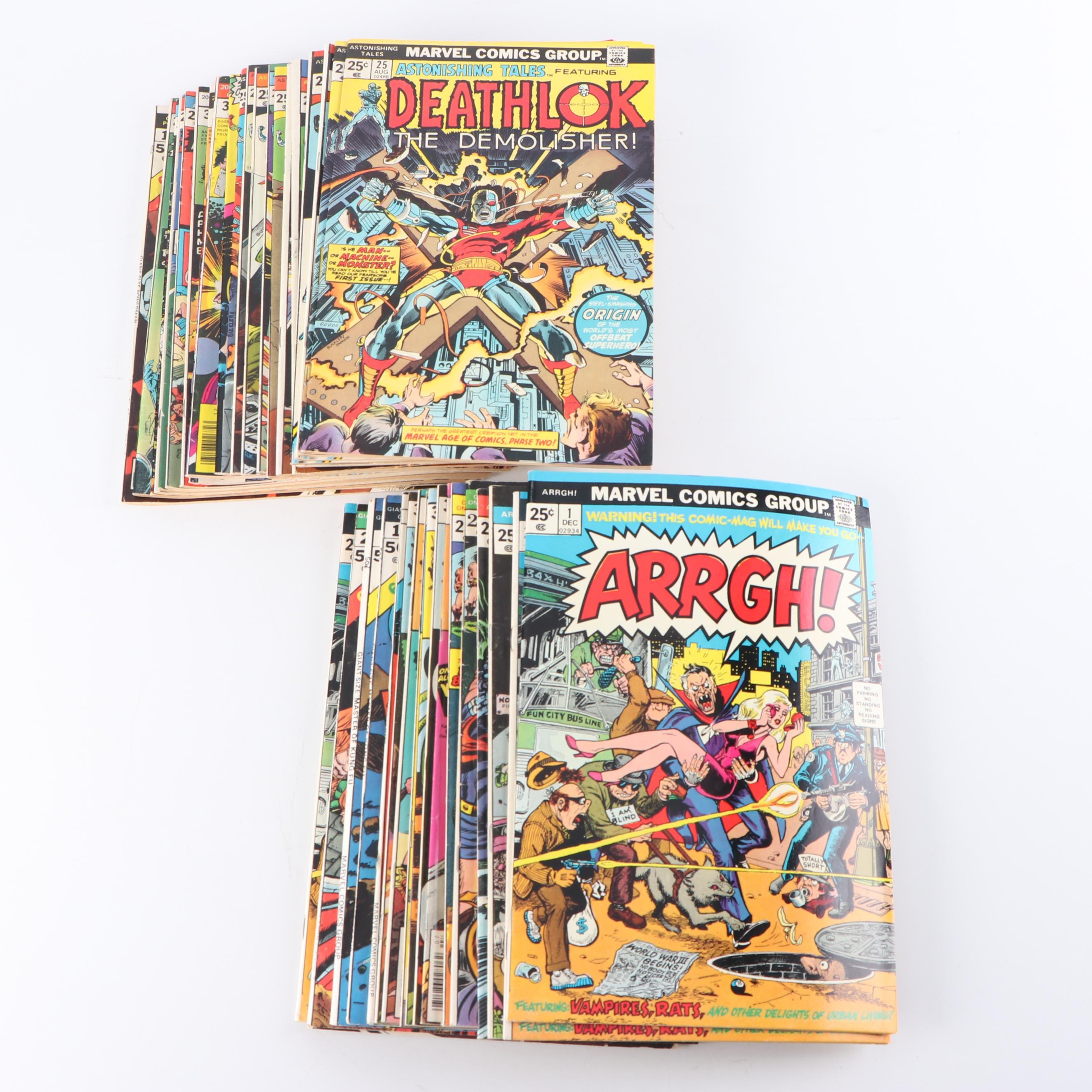 "Bronze Age ""Deathlok, 2001, War of The Worlds, and More"" Comic Books"