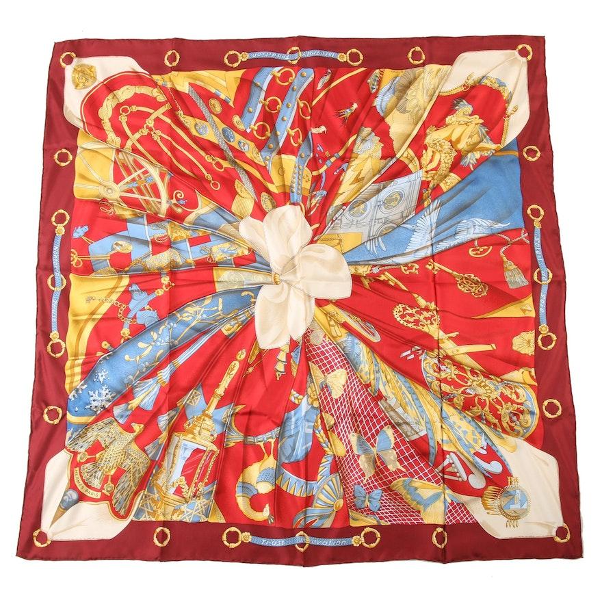"""Hermès Paris """"Soleil de Soie"""" Silk Scarf Designed by Caty Latham"""