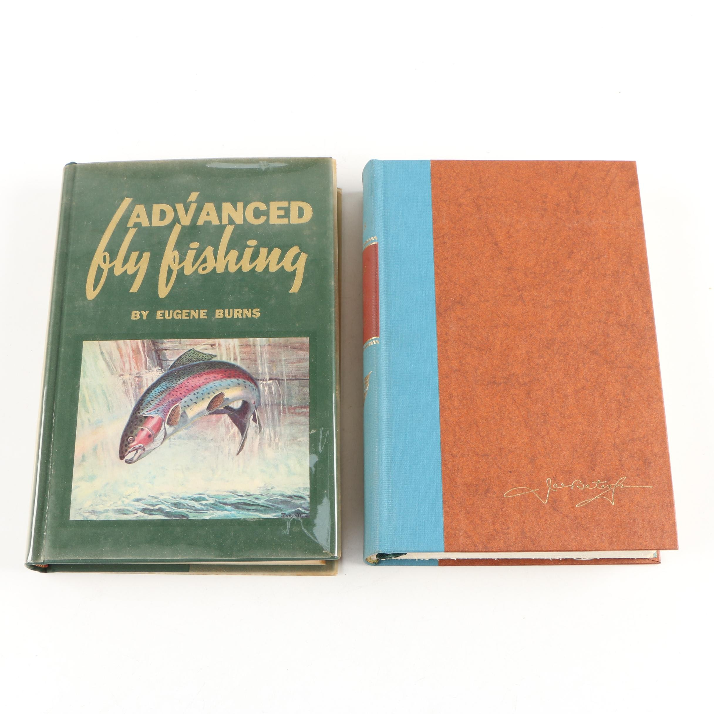 """Fishing Books featuring First Edition """"Streamer Fly Tying and Fishing"""" by Bates"""