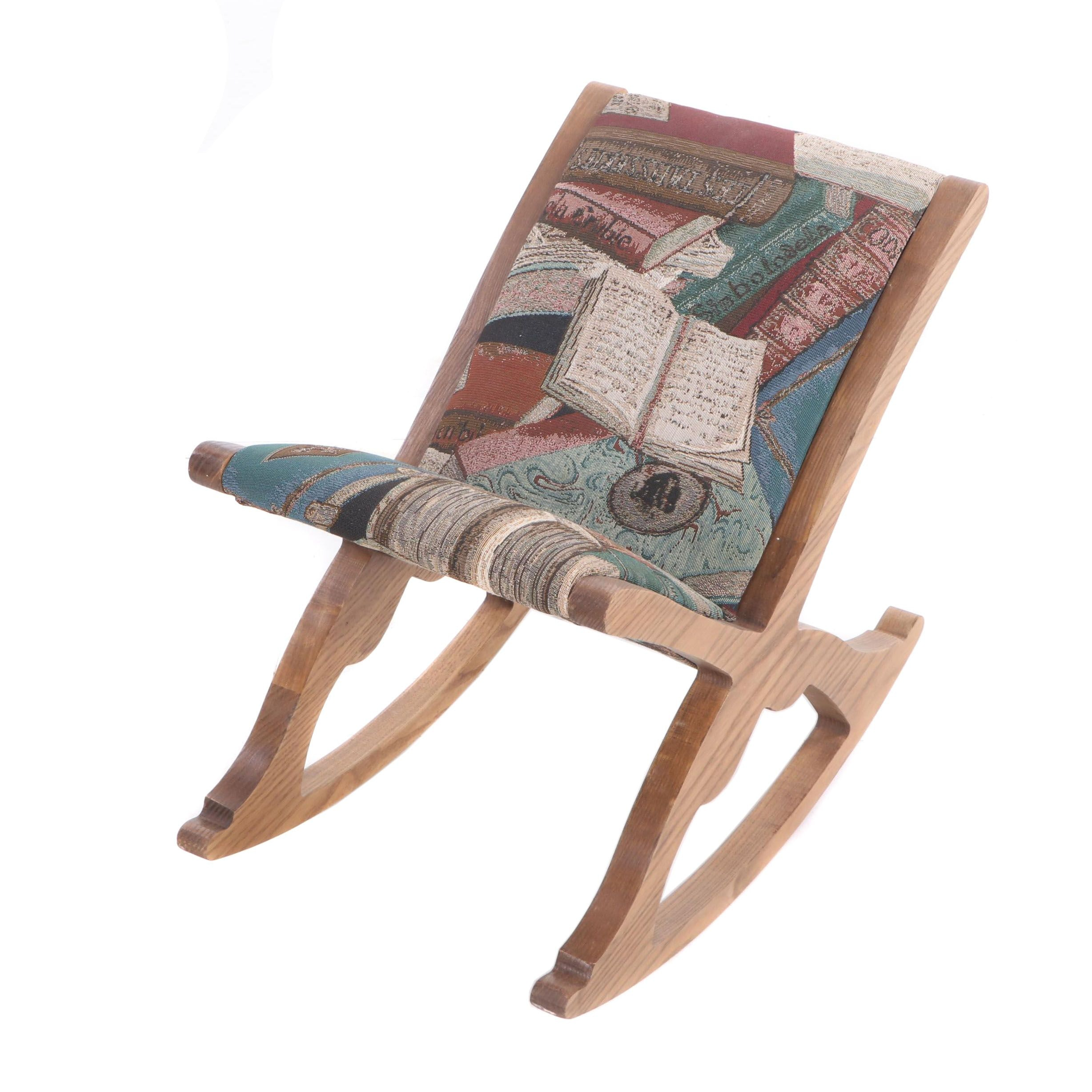 Levenger Well-Read Life Oak Child's Rocking Chair, Contemporary