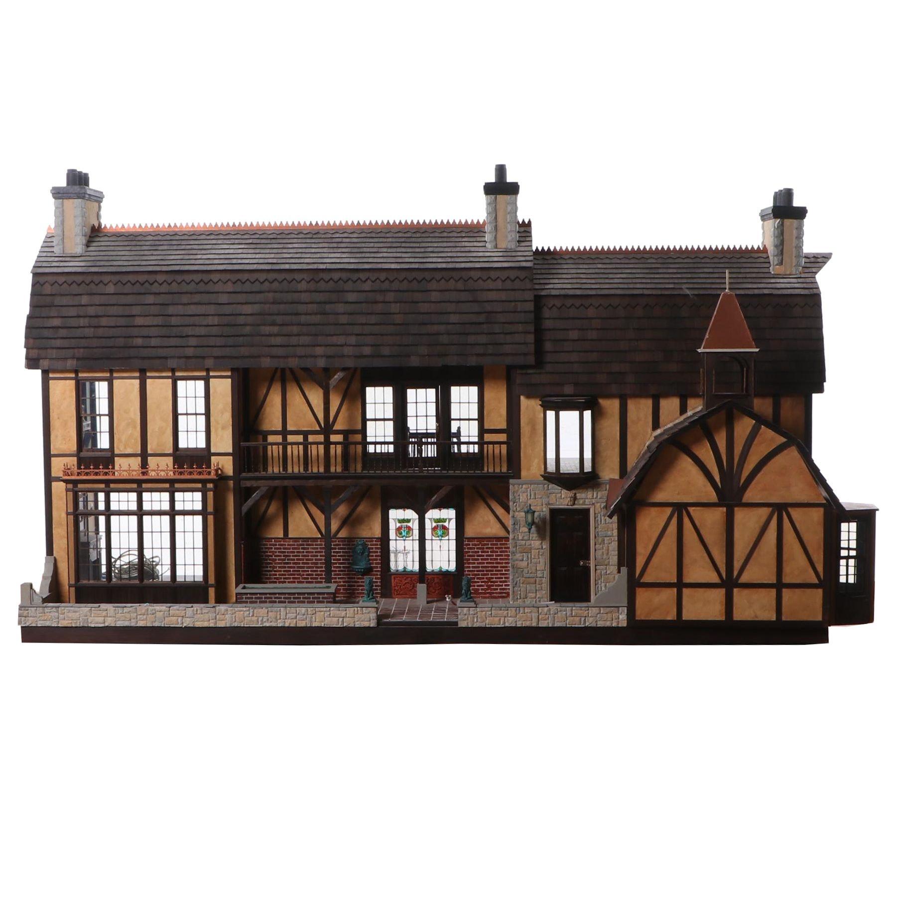 """Lawbre """"Old Westbury Hall"""" Tudor Dollhouse"""