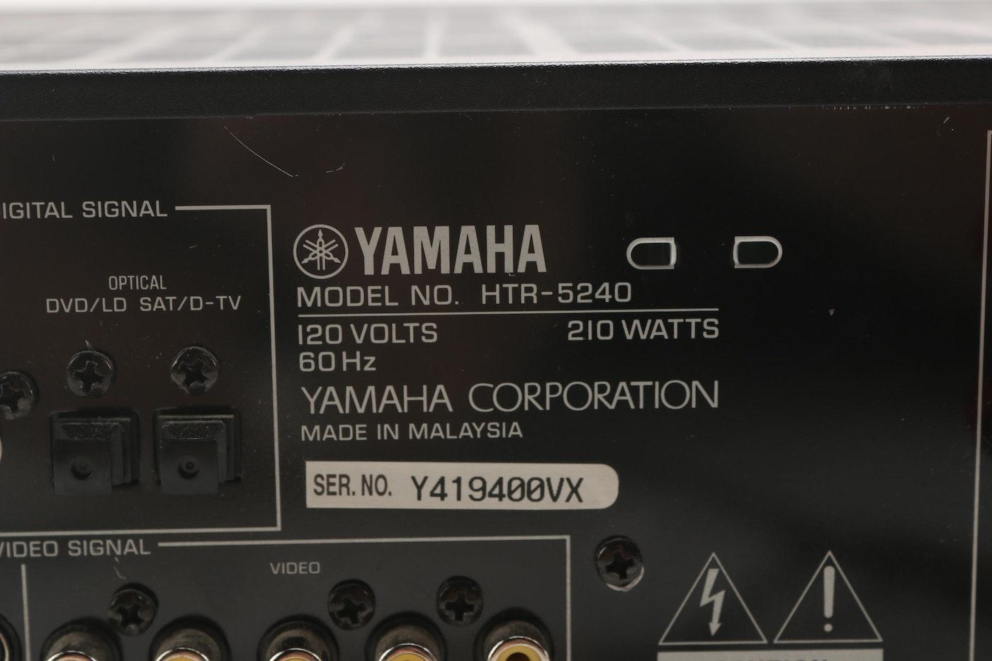 Yamaha AV Receiver And Speakers