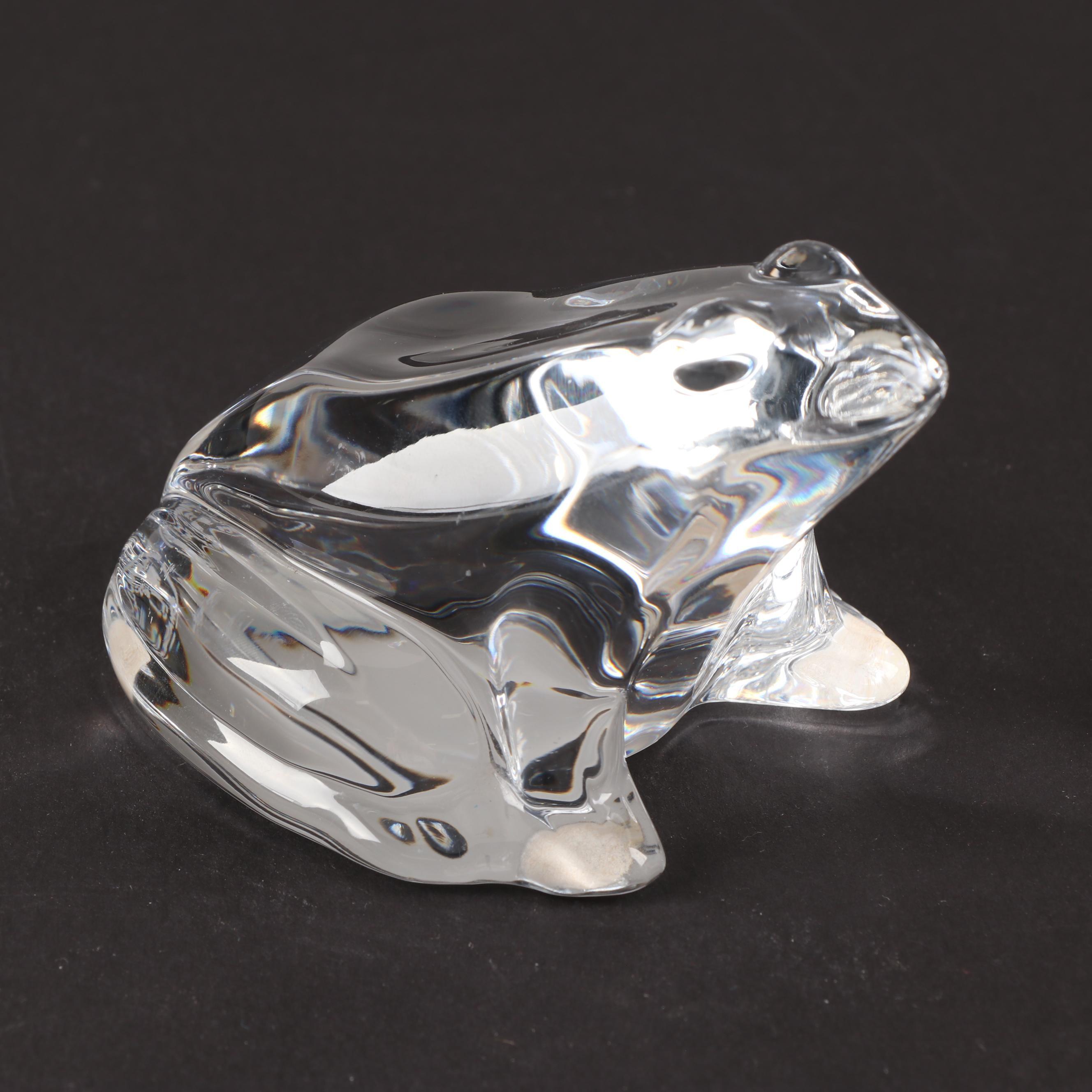 Baccarat Crystal Frog Figurine