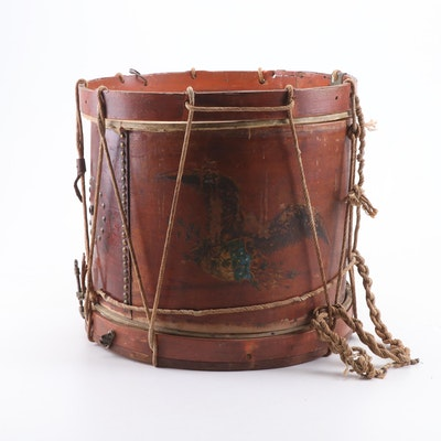 Daniel Griswold Hand-Painted Marching Drum, ca. 1822