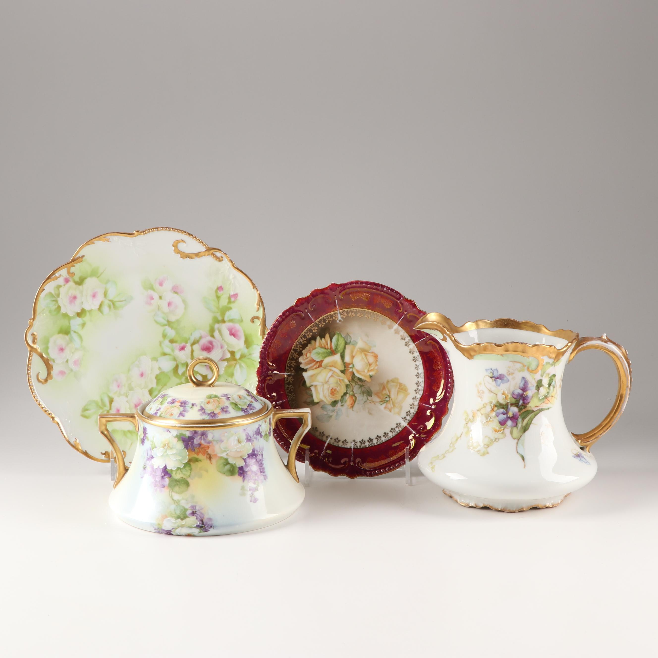 Decorative Victorian Style Tableware Featuring Limoges