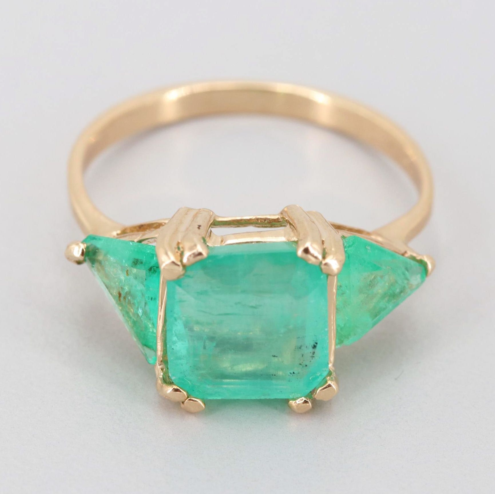 10K Yellow Gold 1.84 CT Emerald Ring