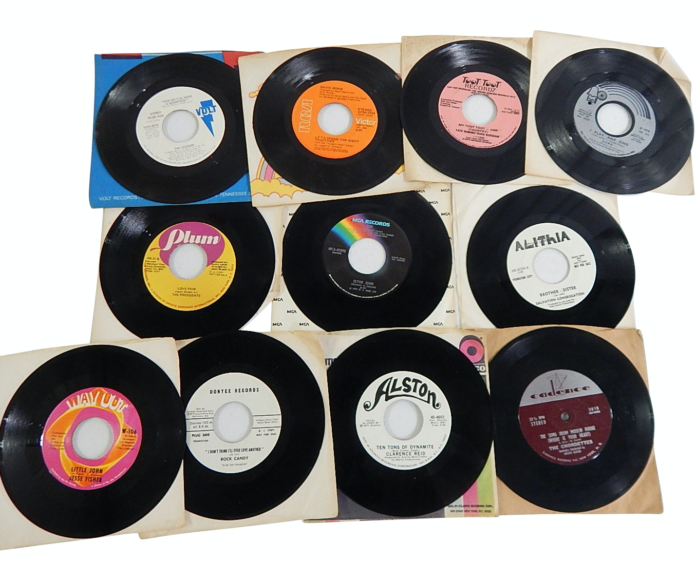 1960s/70s Rock, Pop, Jazz 45 RPM Records with Elton John, David Bowie, More