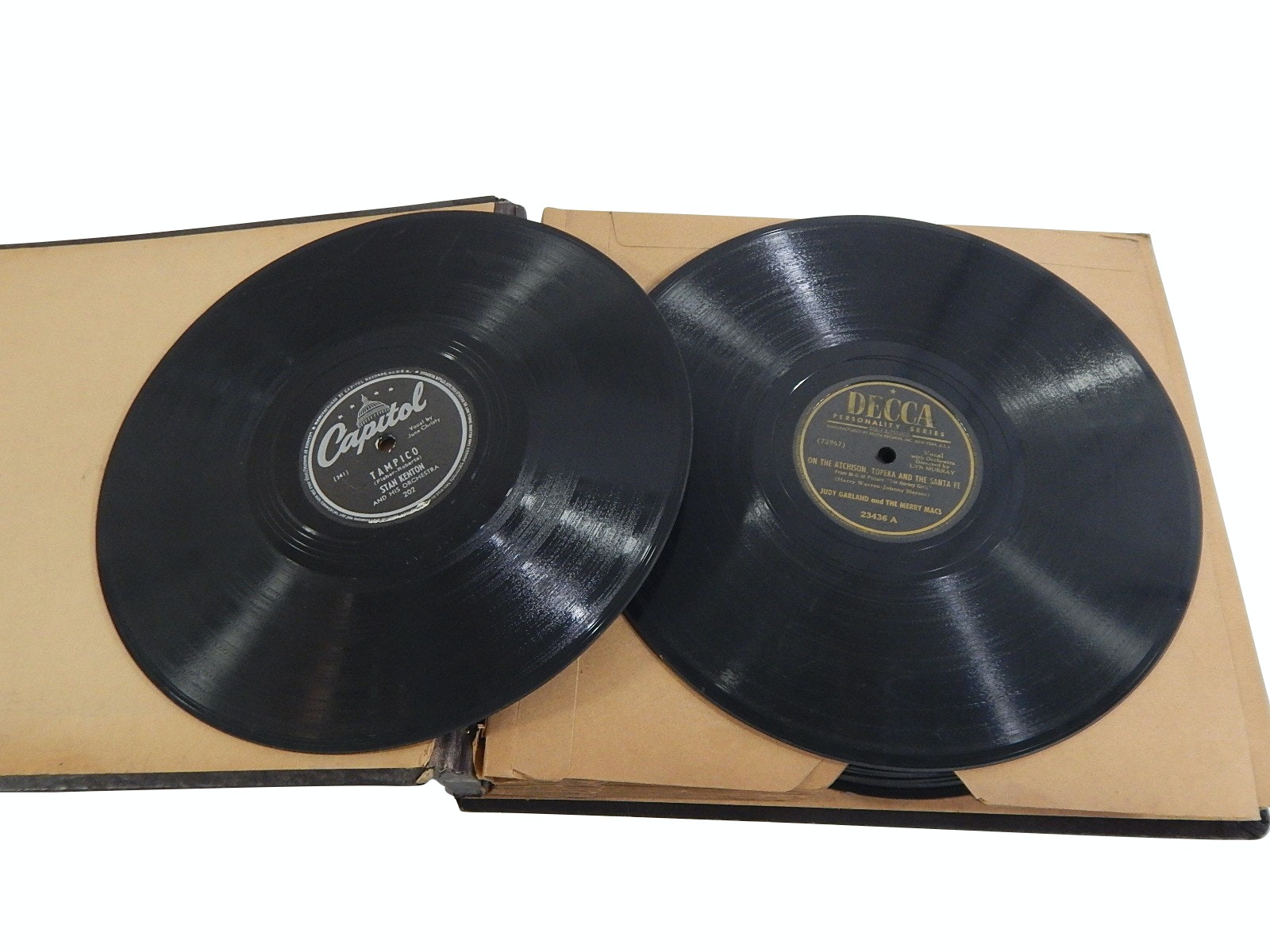 1930s/40s 78 RPM Jazz Records with Stan Kenton, Frank Sinatra, Judy Garland
