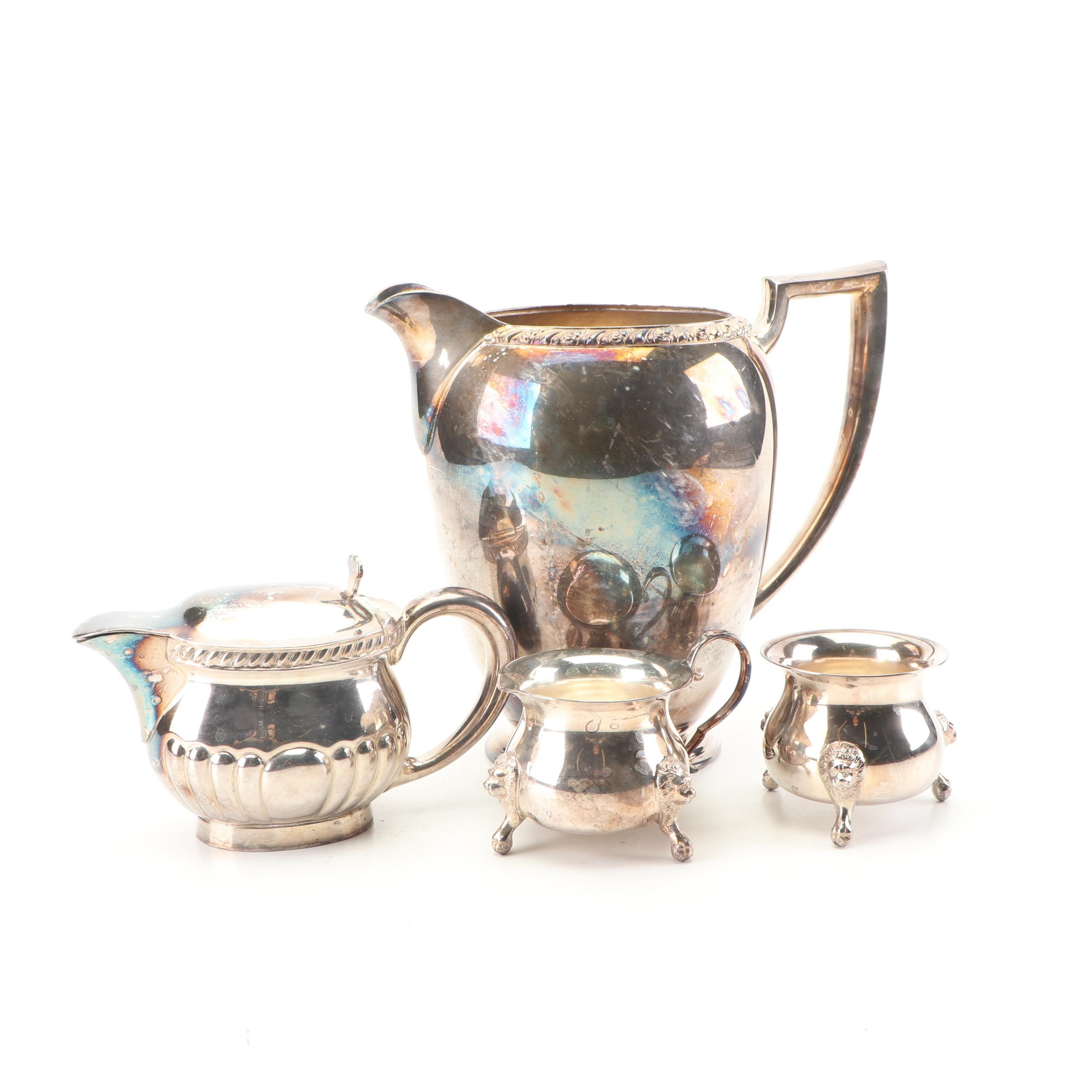 """Wm Rogers """"Berwick"""" Silver Plated Water Pitcher and Other Tableware"""