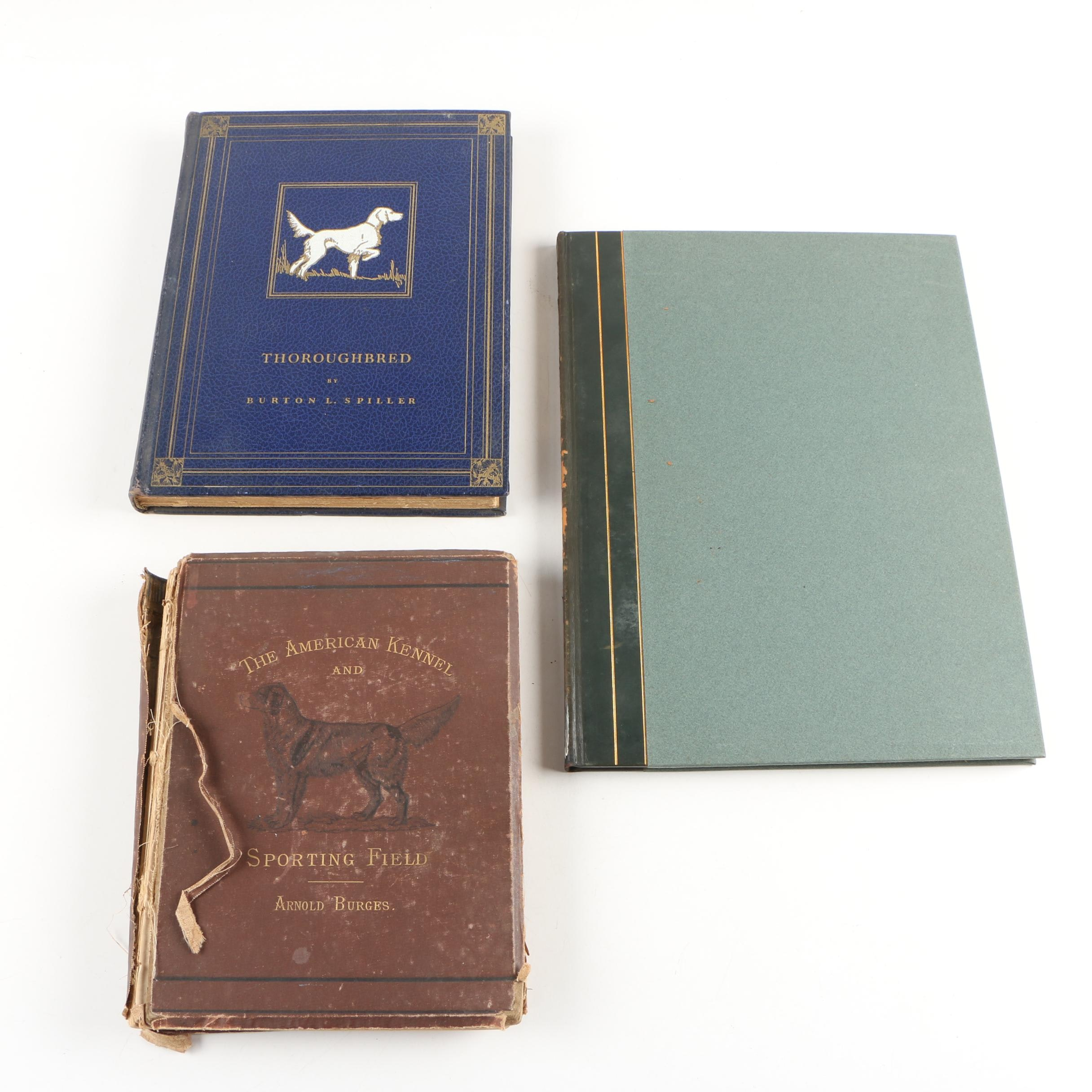 """Dog Books featuring Numbered Edition """"Hunting Dogs"""" by Bert Cobb, 1931"""
