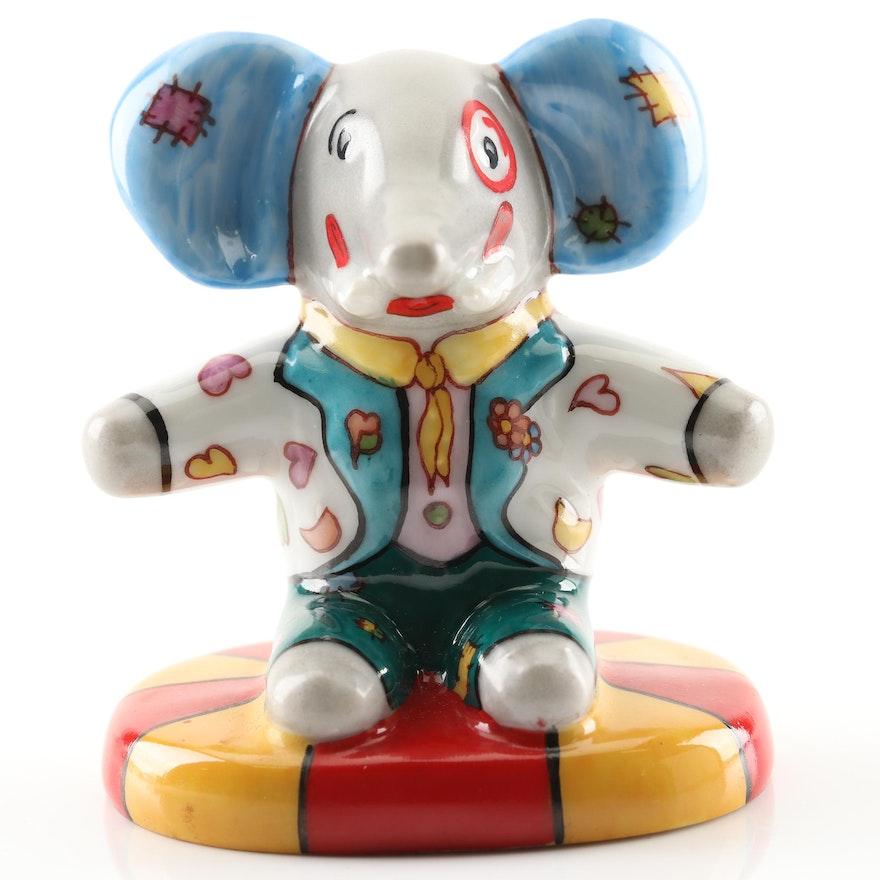 Hand-Painted Limoges Porcelain Elephant Figurine