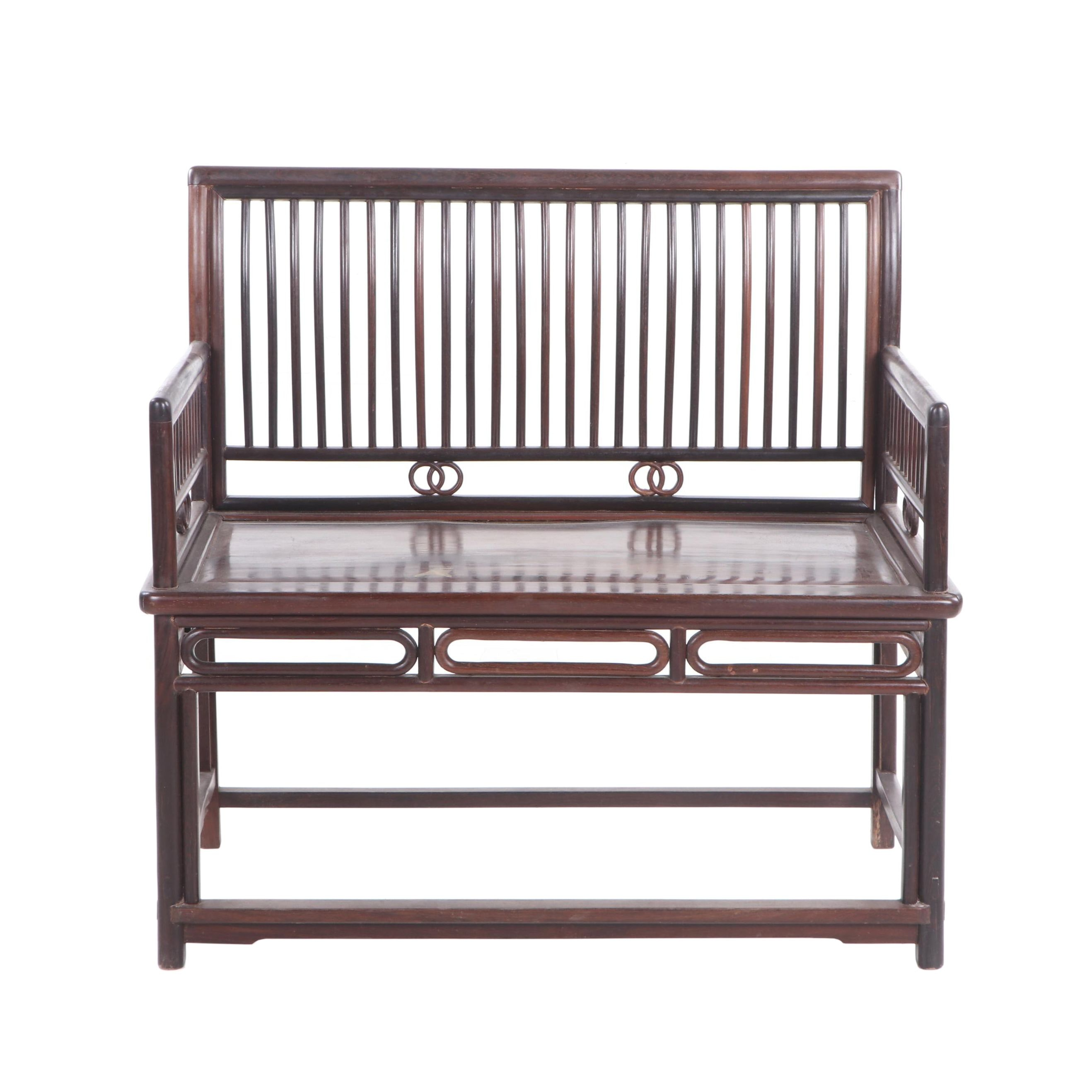 Chinese Style Wood Hall Bench, Contemporary