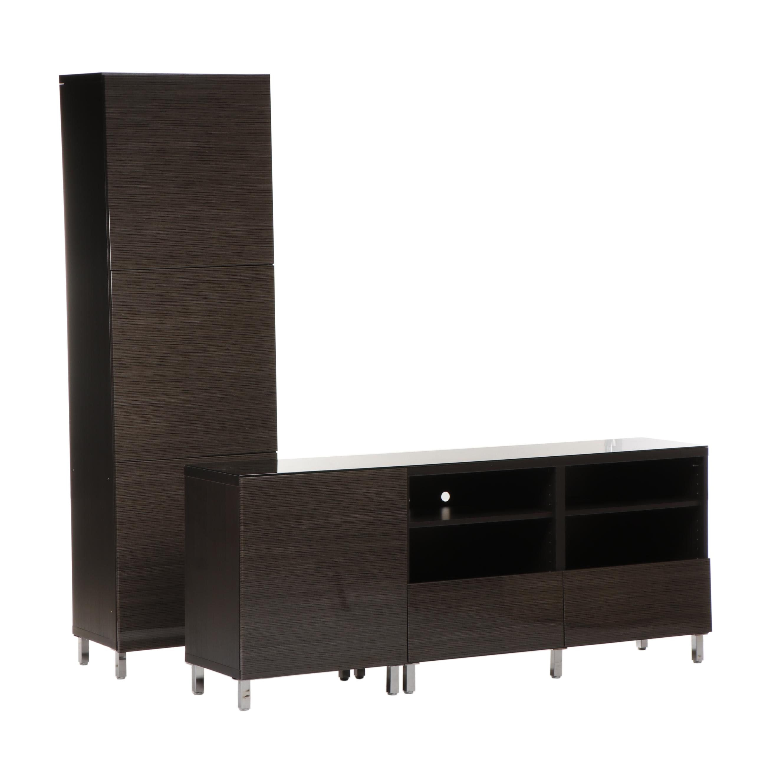 "IKEA ""Besta"" Entertainment Center Cabinet and Credenza"