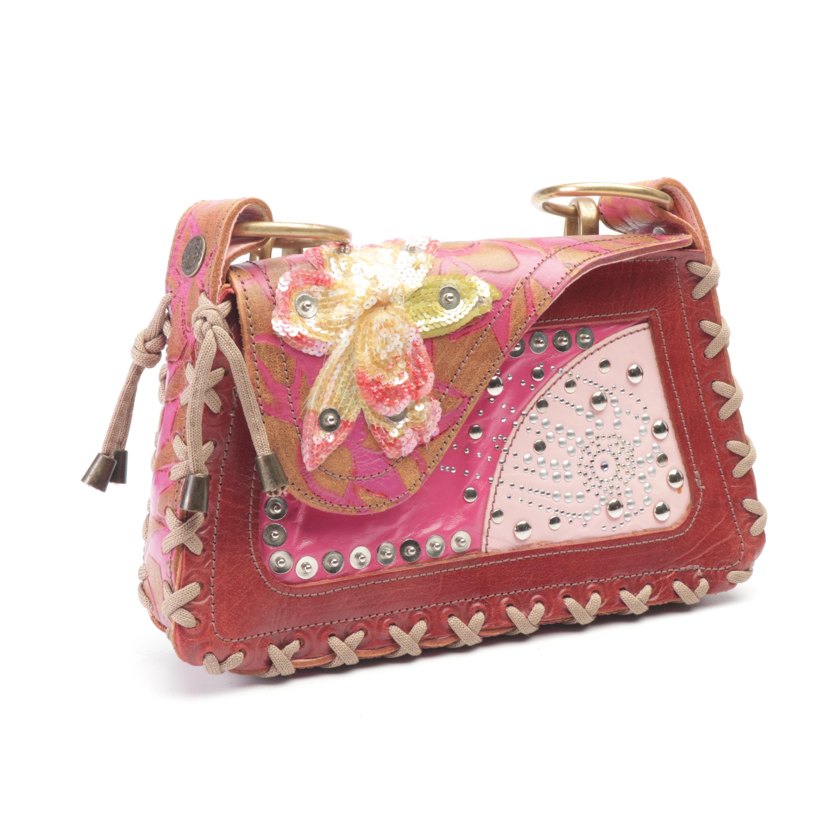 Bracher Emden Embellished Patchwork Leather Handbag