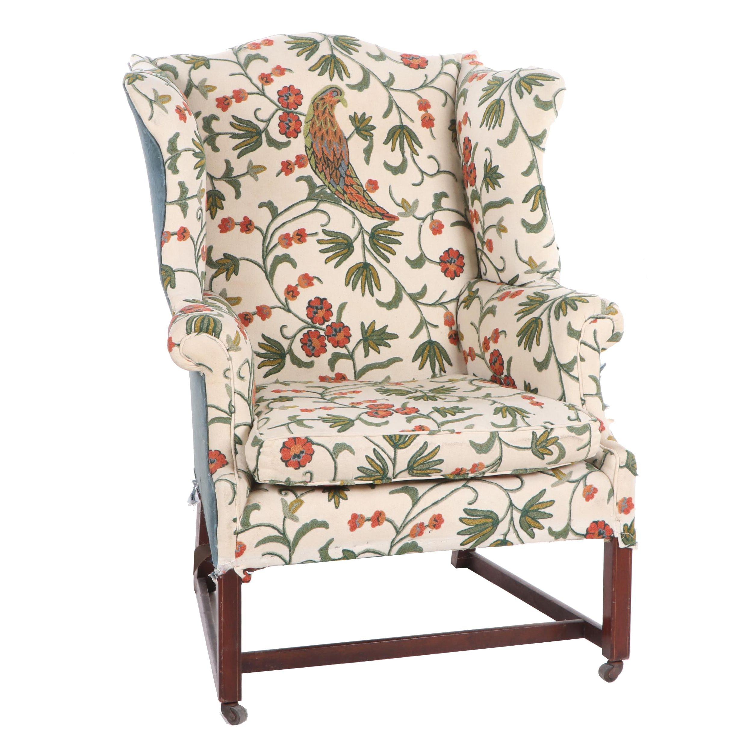 Chippendale Mahogany Wingback Chair, Massachusetts, Ca. 1780
