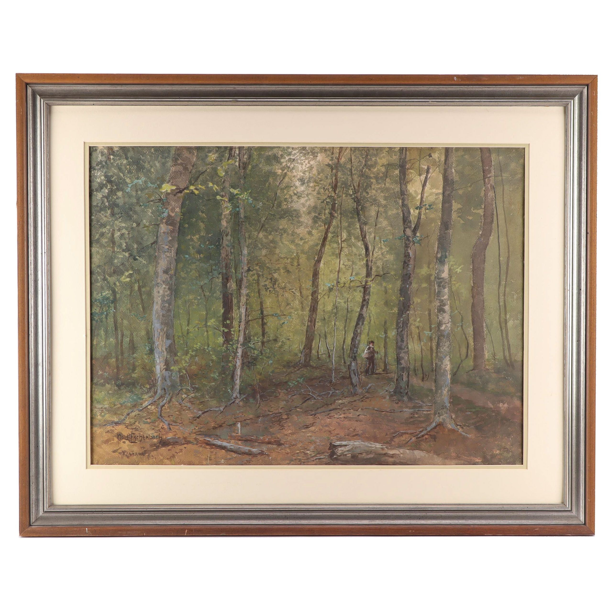 "Paul Ashbrook Watercolor Painting ""Macatawa, Mich"""