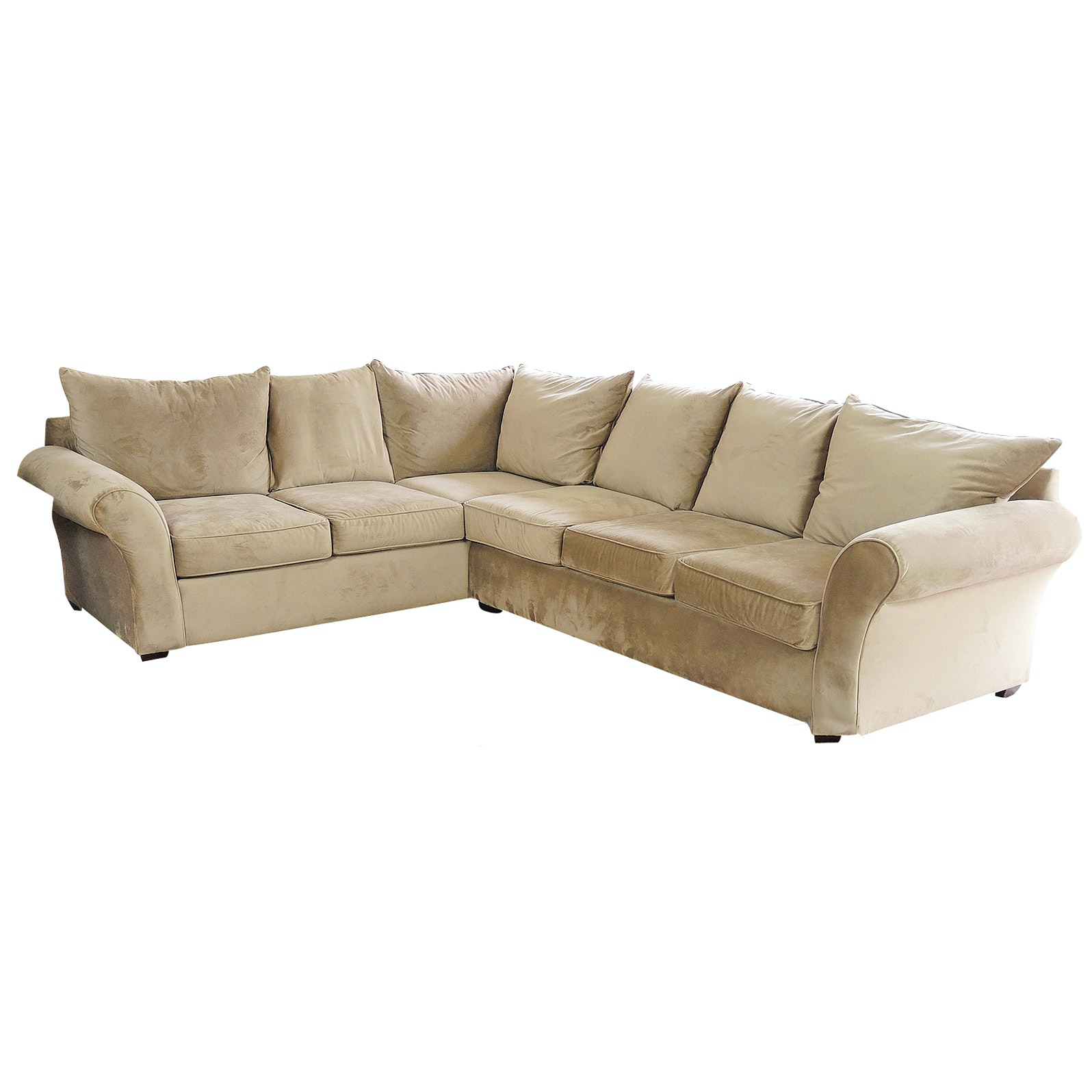 Ellis Home Furnishings Micro Suede Sectional Sofa, Contemporary