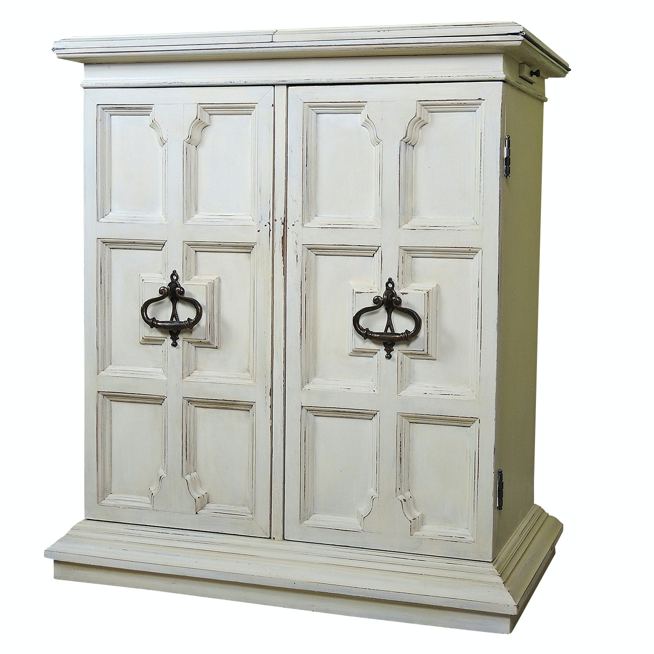 Contemporary Painted Wood Bar Cabinet by Heritage