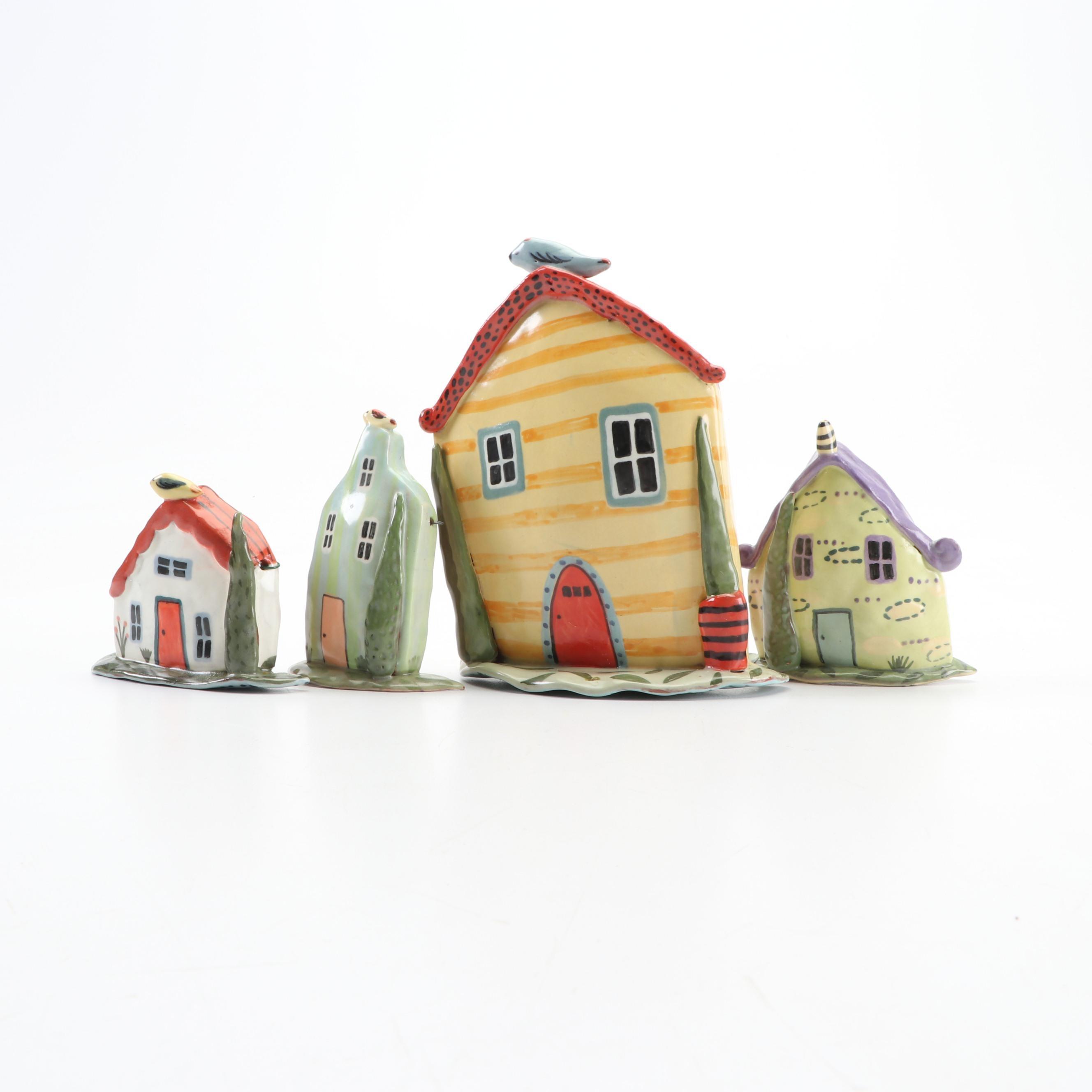 Nancy Gardner Handbuilt Terracotta House Wall Hangings