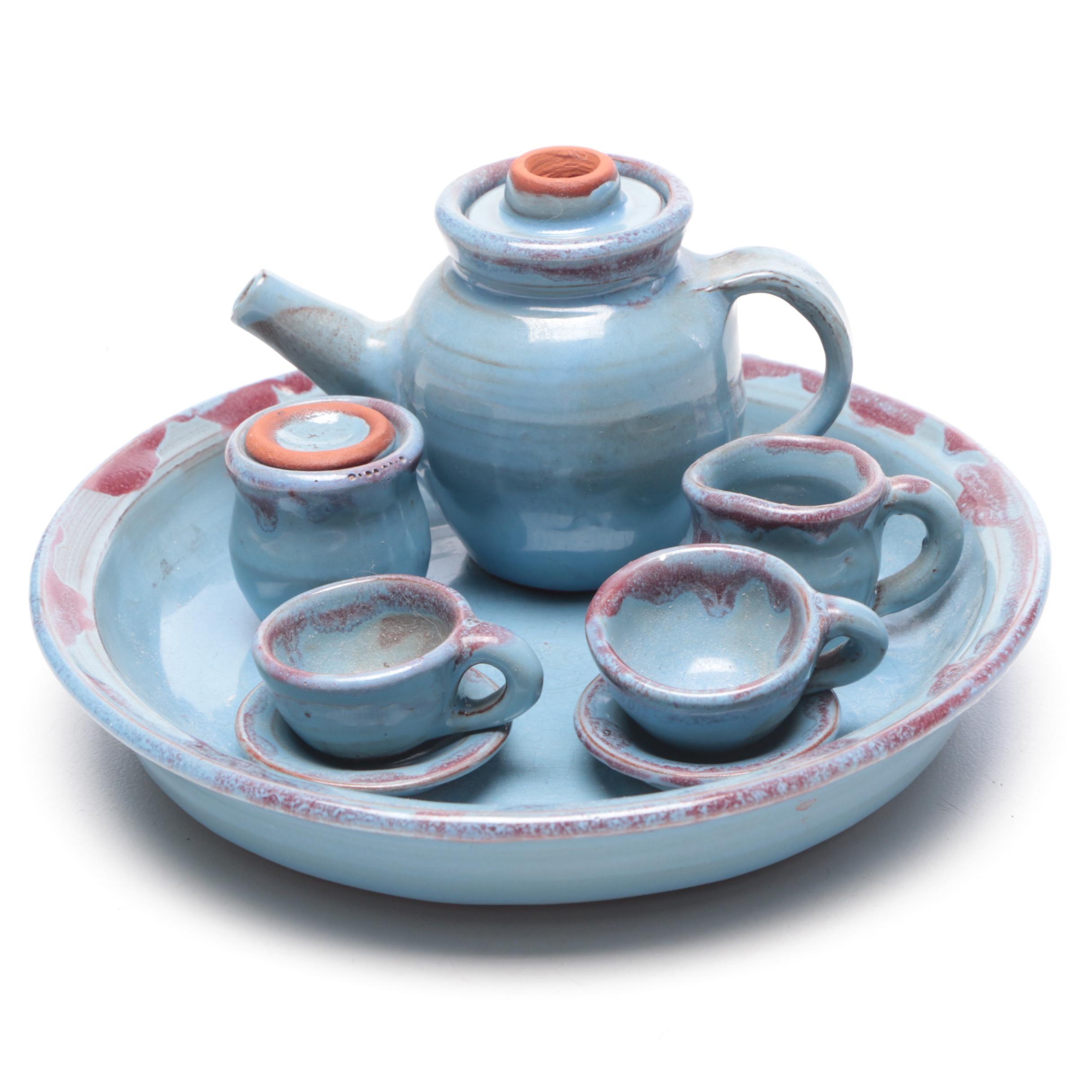Milford Pottery Cathy Gatch Miniature Stoneware Tea Set