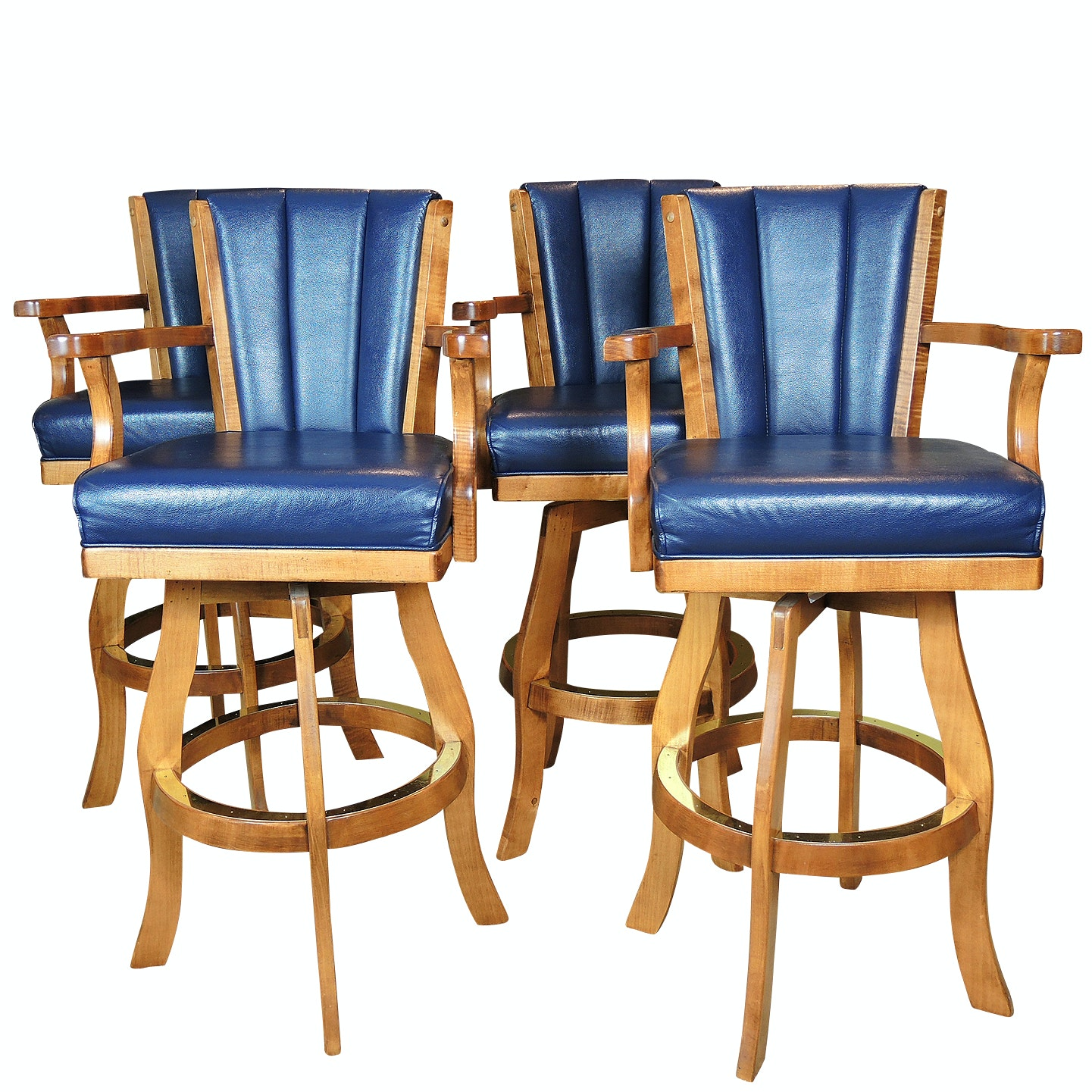 Beach Manufacturing Wooden Bar Stools, Contemporary