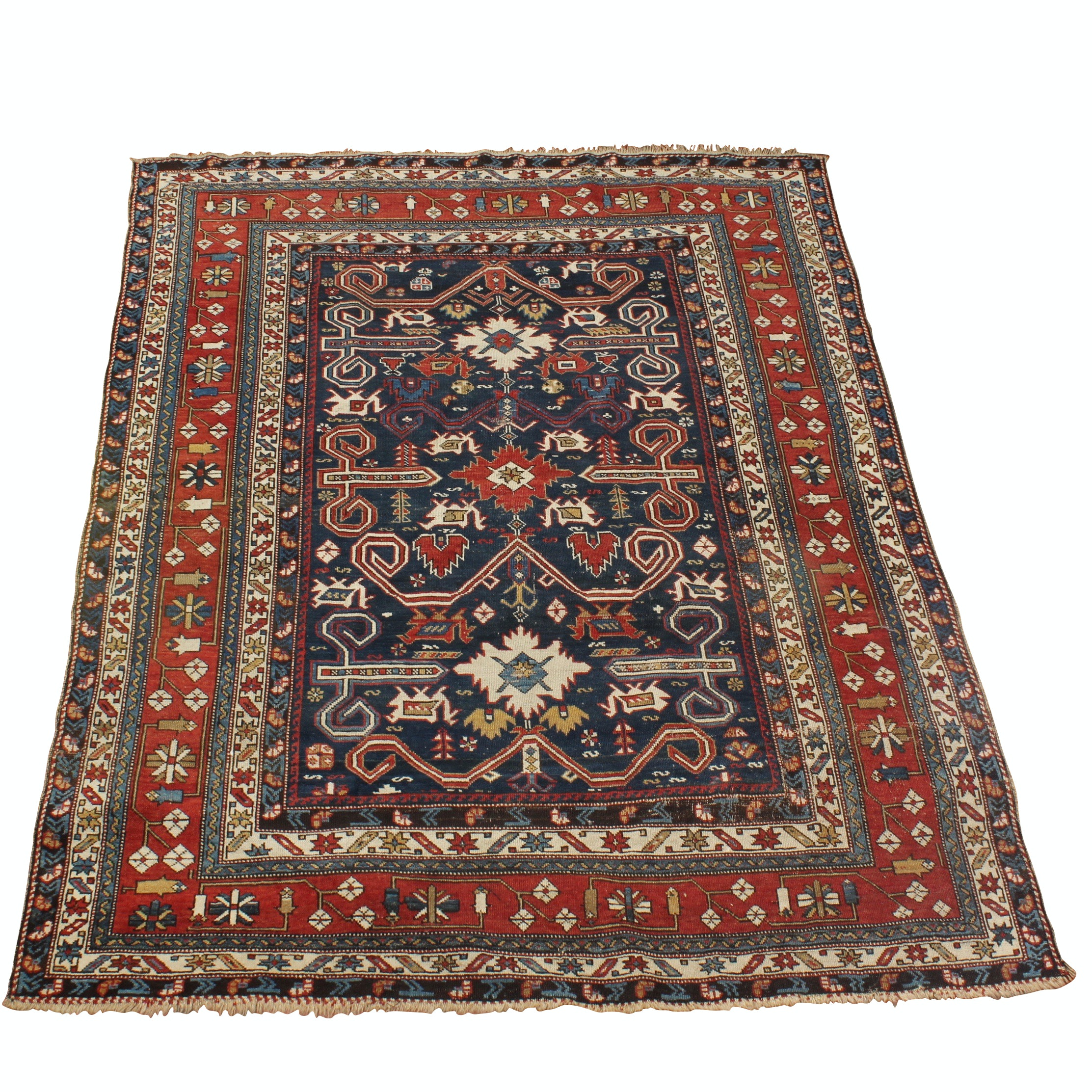 Hand-Woven Flat Weave Central Asian Style Area Rug