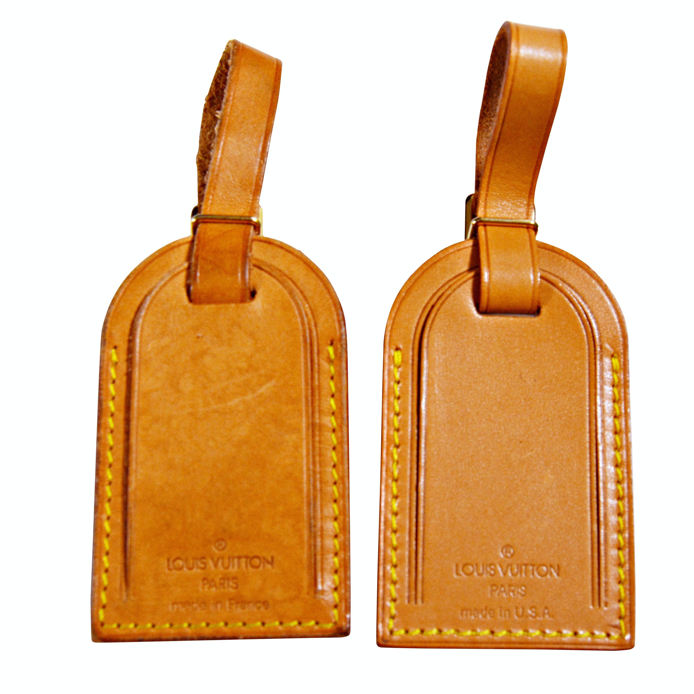 Louis Vuitton Paris Vachetta Leather Luggage Tags