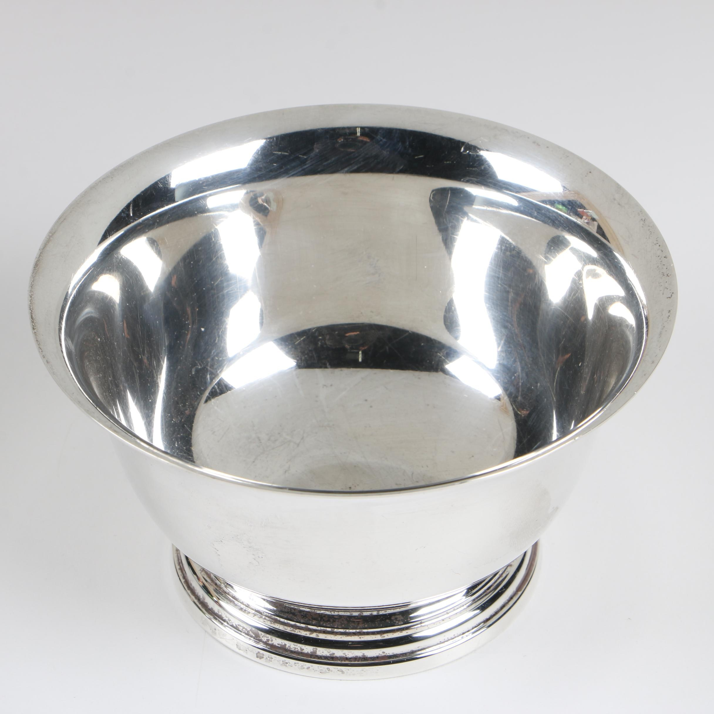 Manchester Silver Co. Sterling Reproduction Paul Revere Bowl, 1914–1985