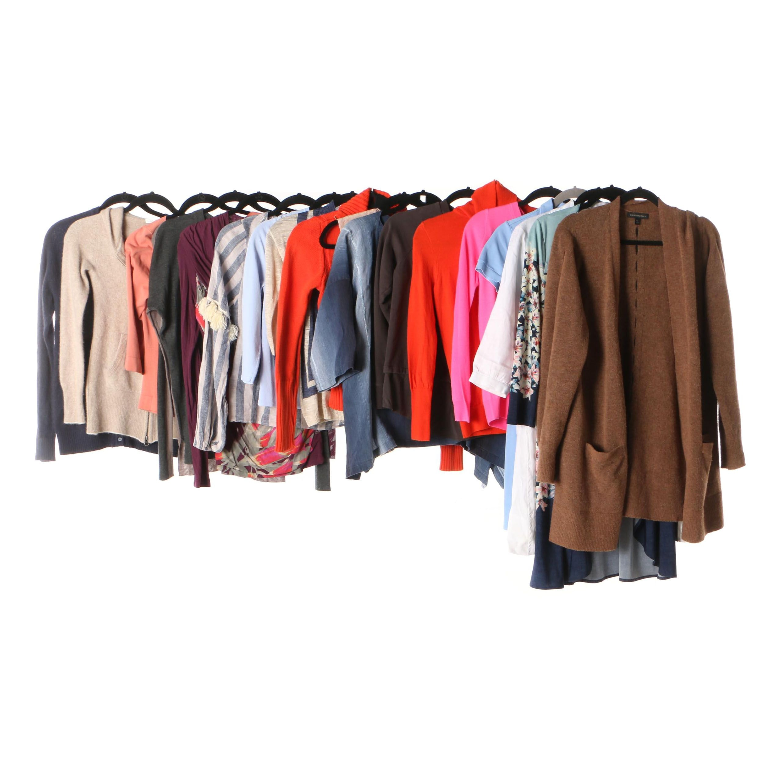 Women's Dresses and Tops Including Magaschoni, Banana Republic and J. Crew
