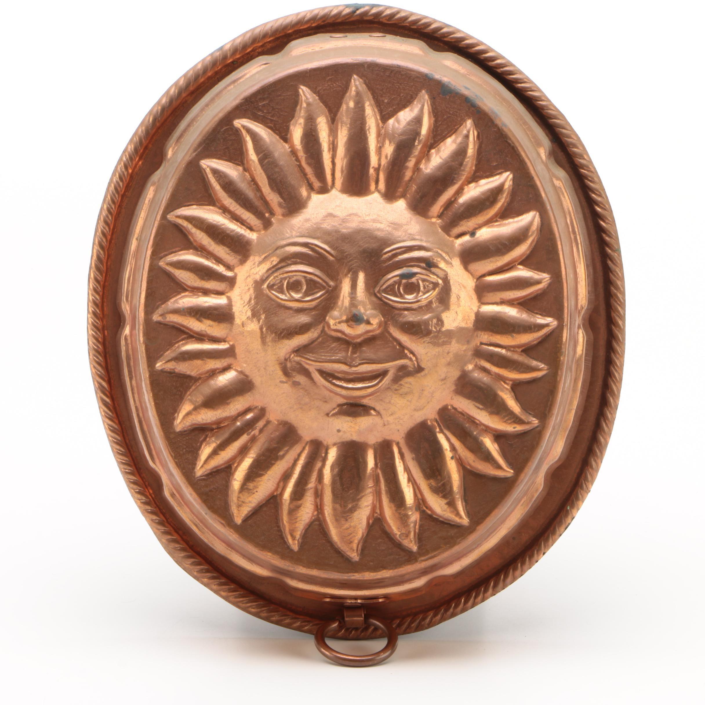 Copper Sun Mold Key Rack