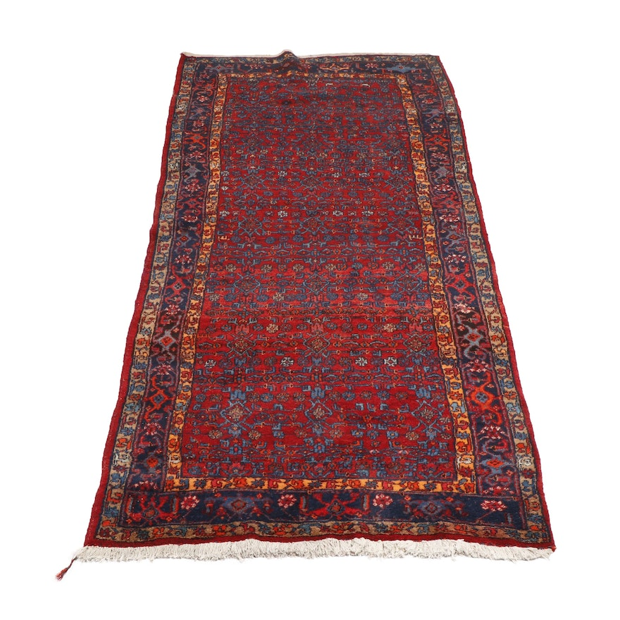 Hand-Knotted Indo-Persian Herati Wool Rug