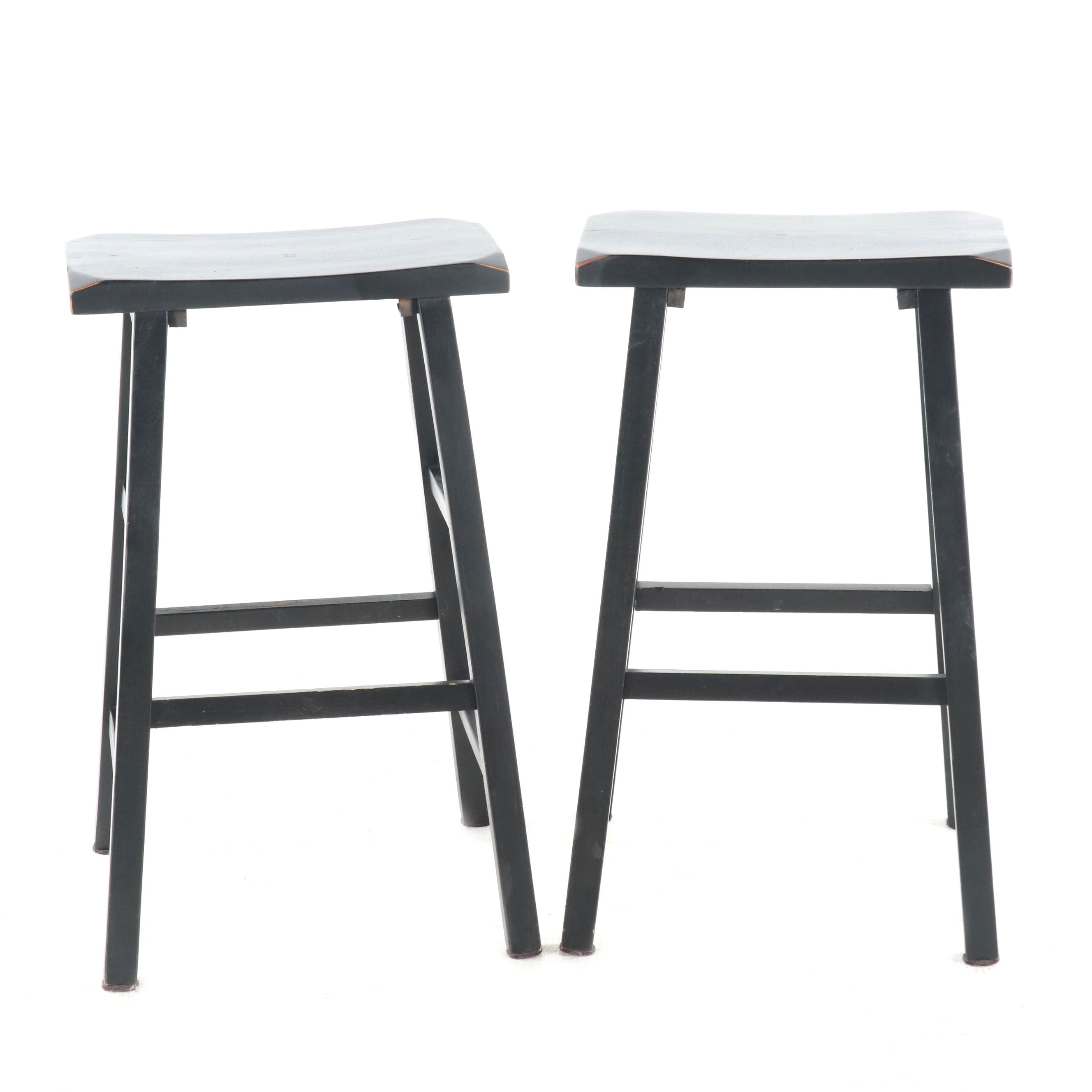 Painted Wooden Bar Stools, Contemporary