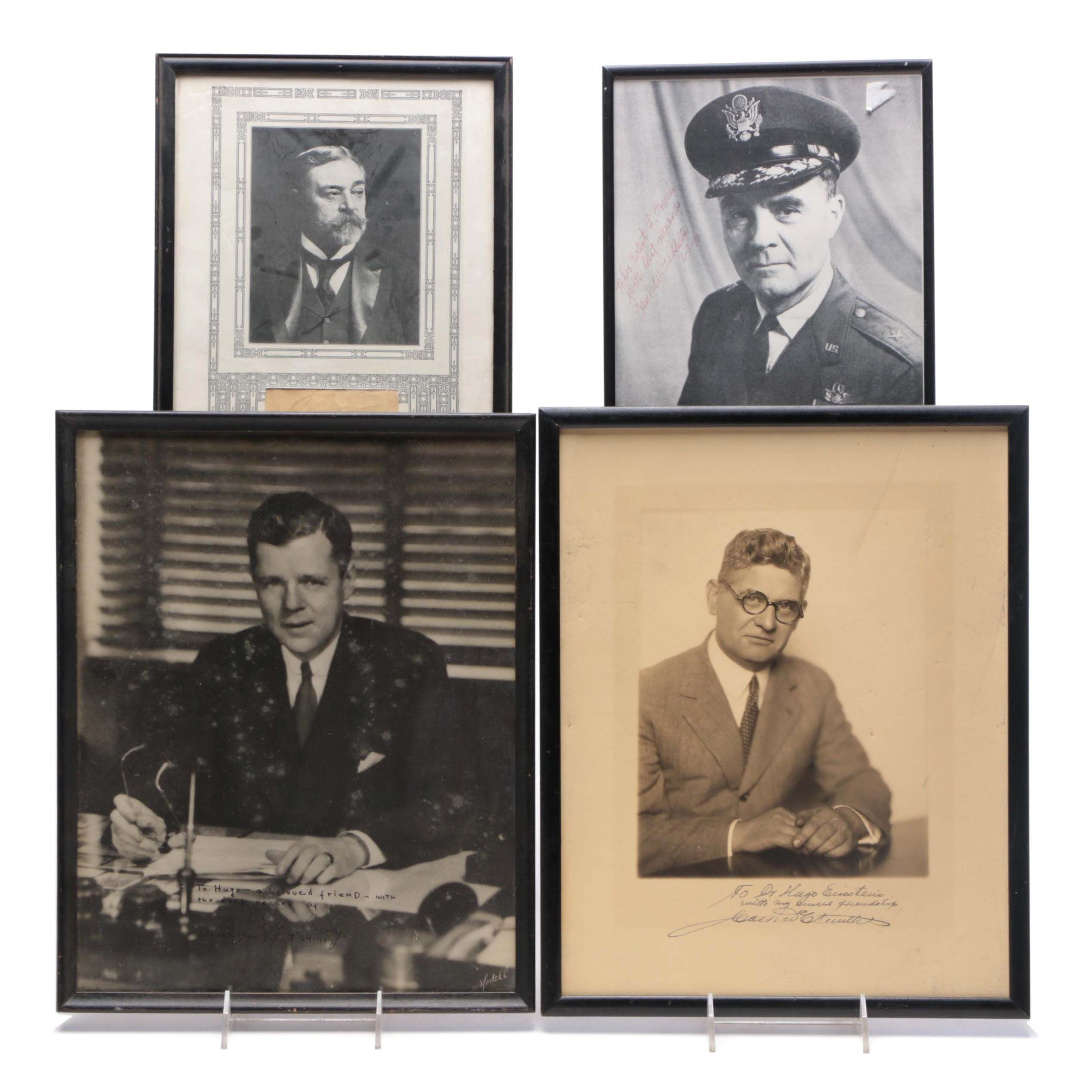 Group of Vintage Framed Political and Military Autographs