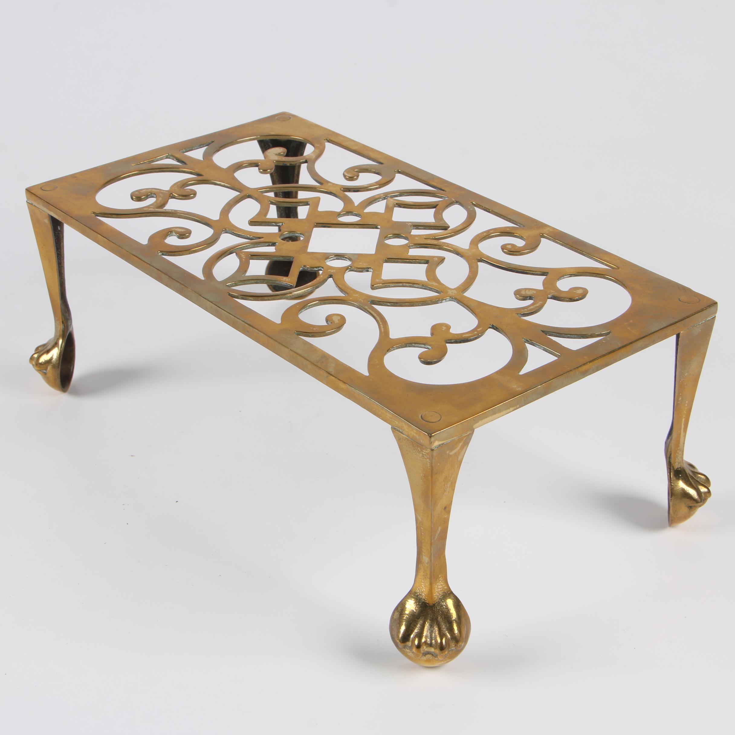 Regency Style Brass Hearth Trivet