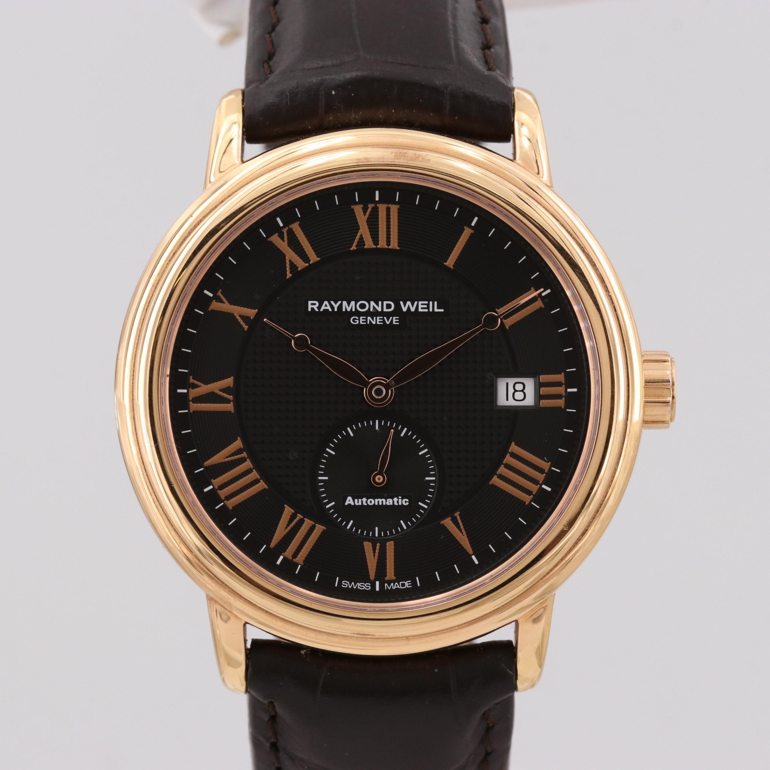 Raymond Weil Maestro Gold Tone Automatic Wristwatch