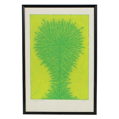 Henry Pearson Late 20th Century Op Art Serigraph