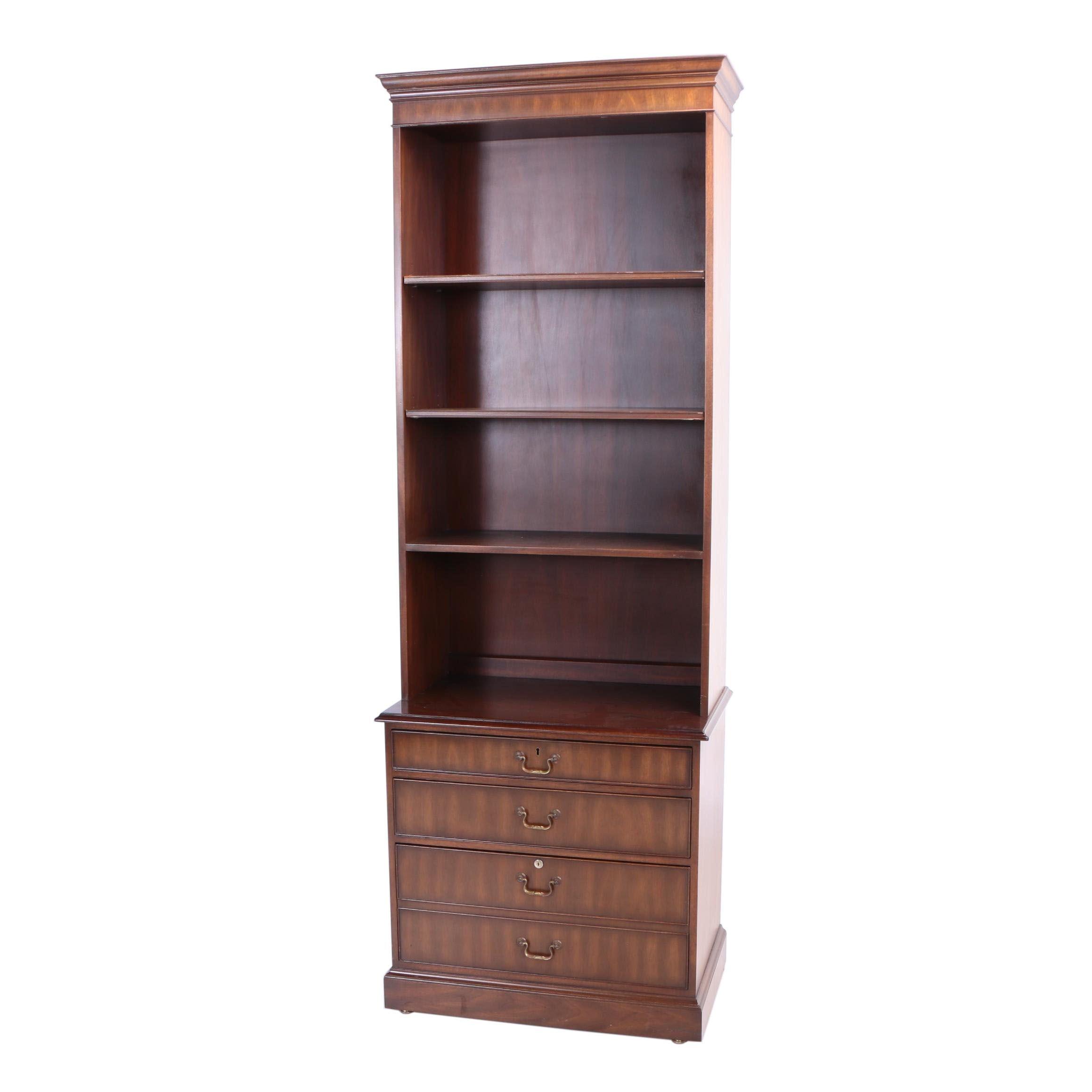Kittinger Furniture, Mahogany Bookcase-on-Chest, 20th Century