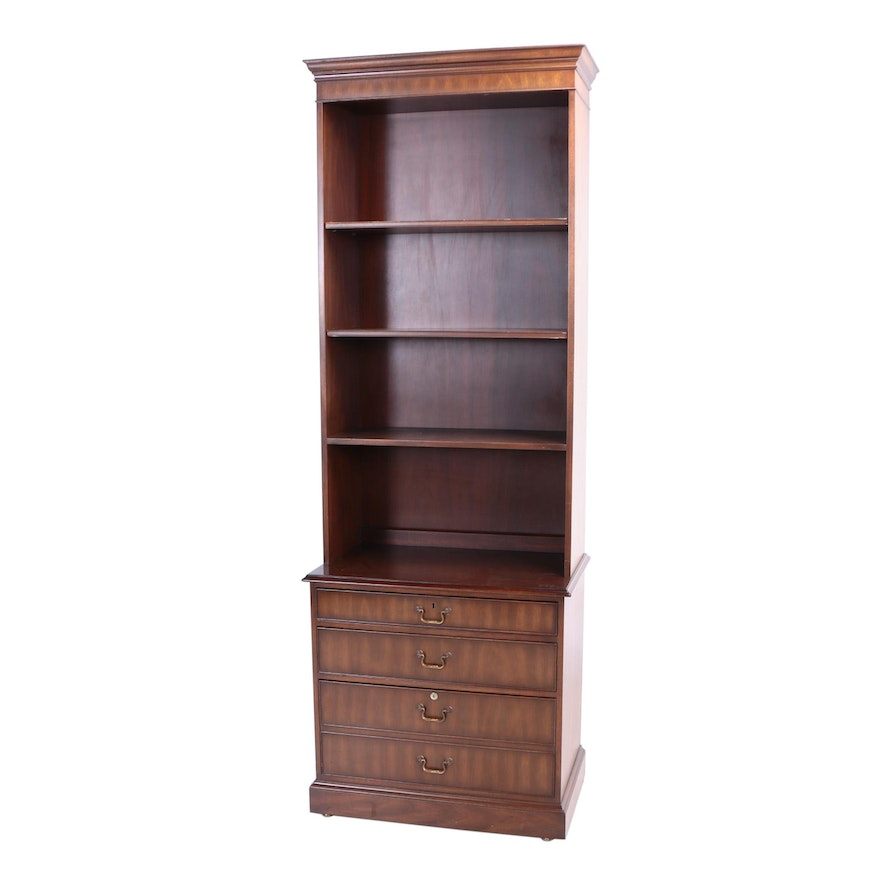 Kittinger Furniture Mahogany Bookcase On Chest 20th Century Ebth