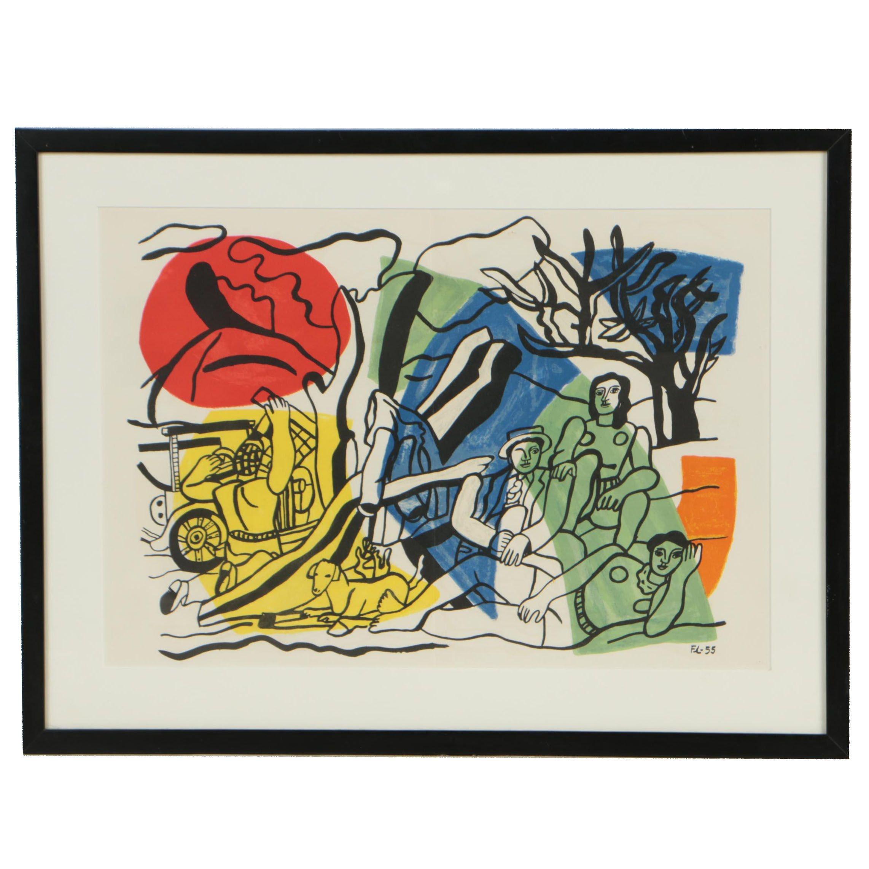 """Lithograph after Fernand Léger """"La Partie de Campagne"""""""