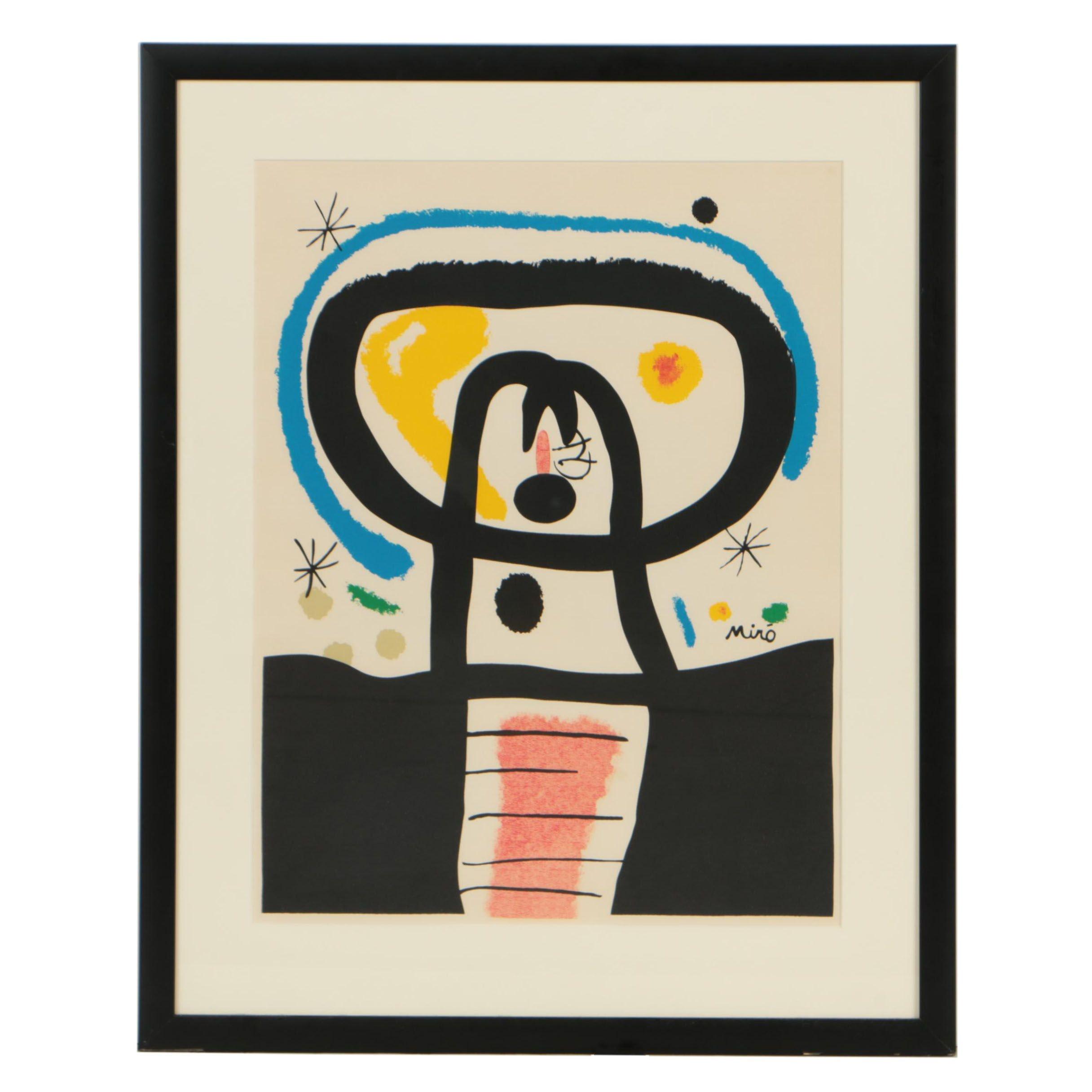 """Lithograph after Joan Miró """"Équinoxe"""""""