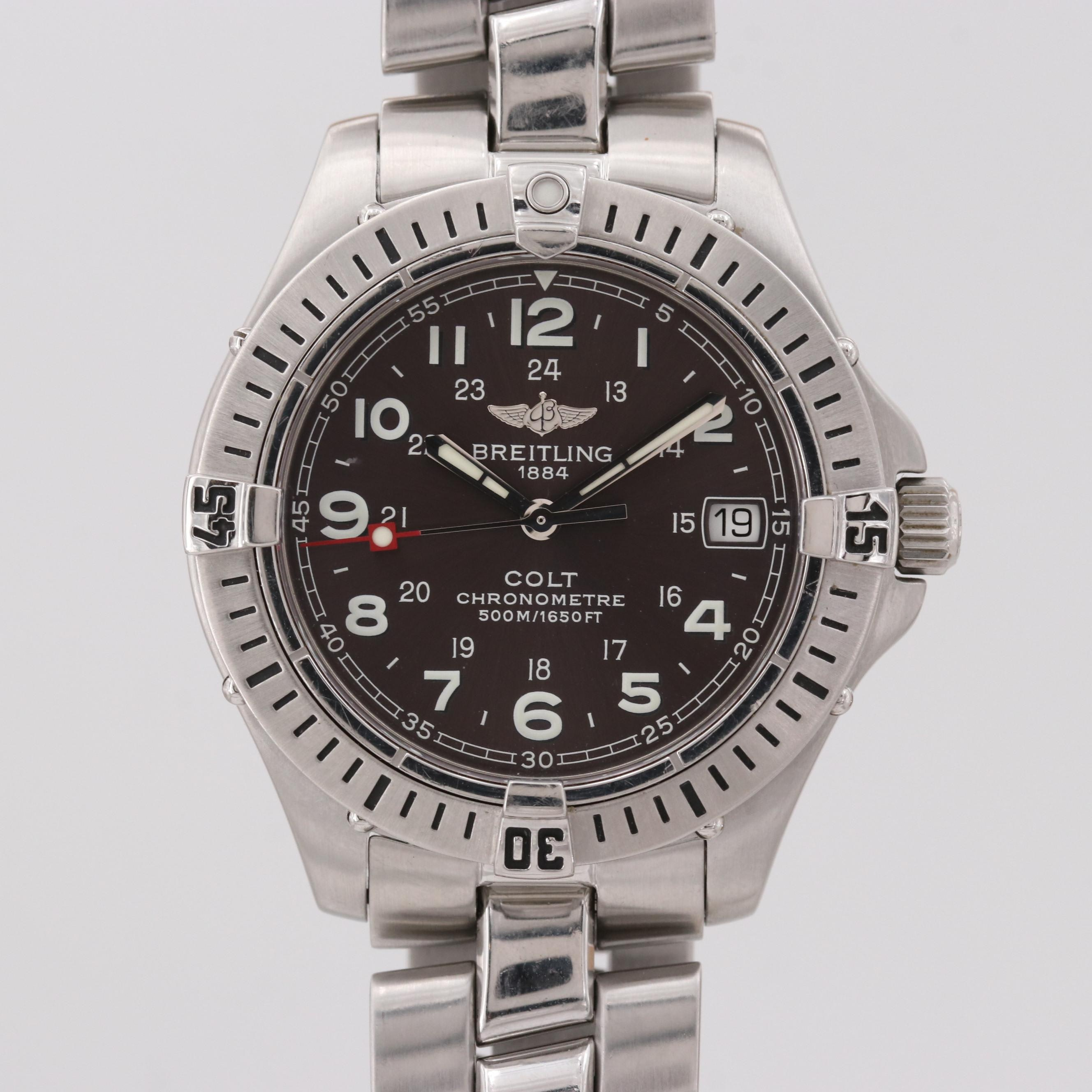 Breitling Colt Stainless Steel Quartz Wristwatch
