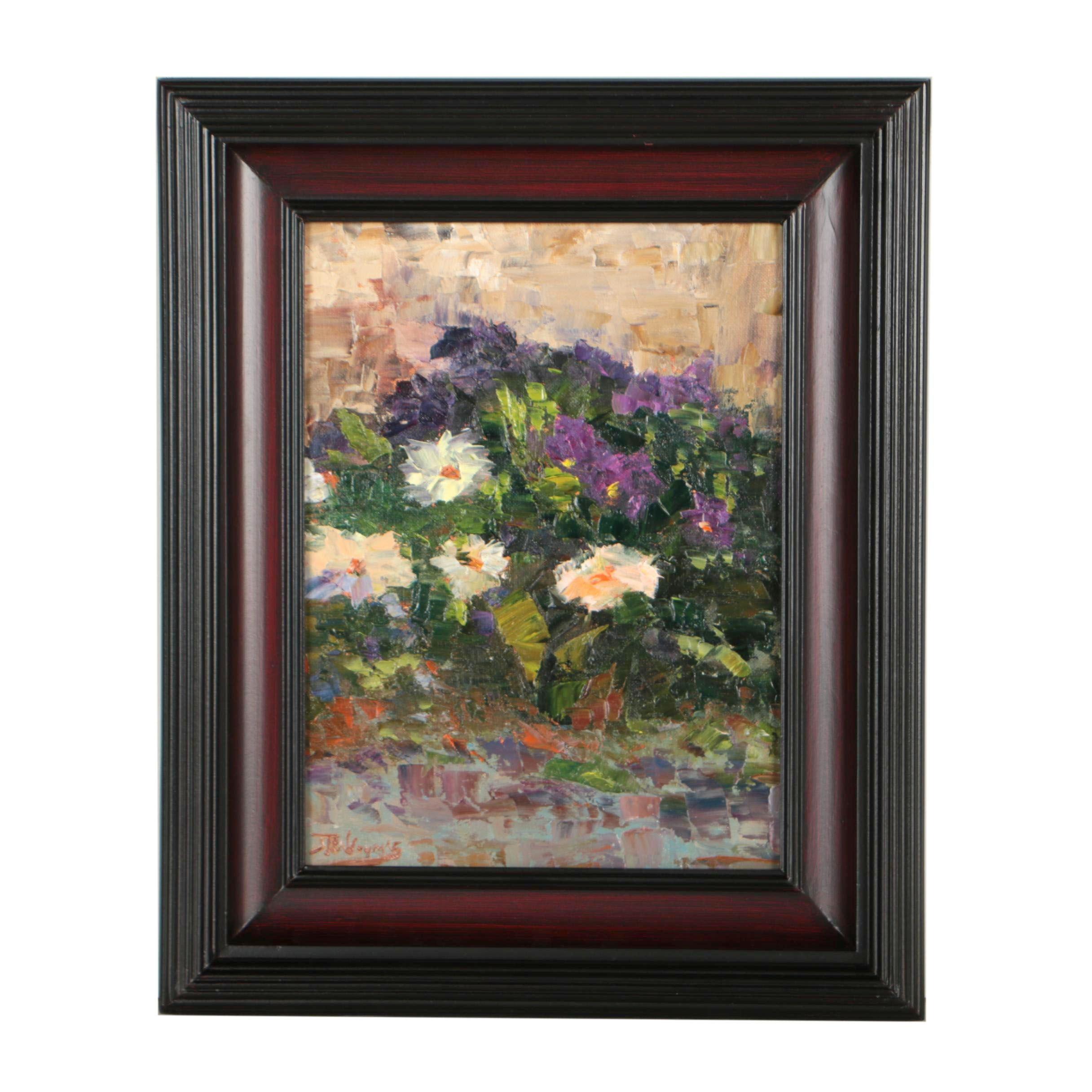 """James Baldoumas Oil Painting """"Spring Flowers"""""""