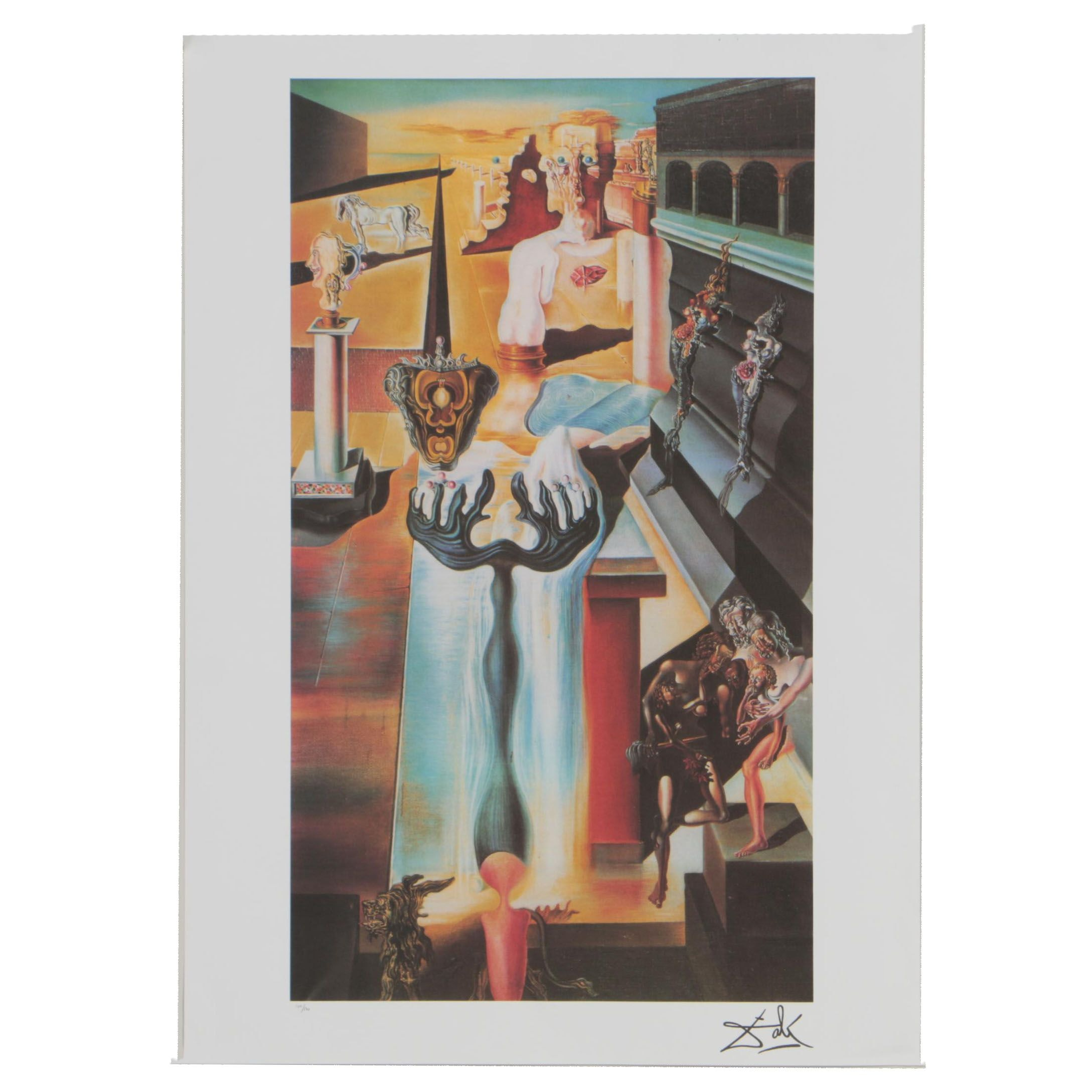 "Offset Lithograph after Salvador Dalí ""The Invisible Man"""