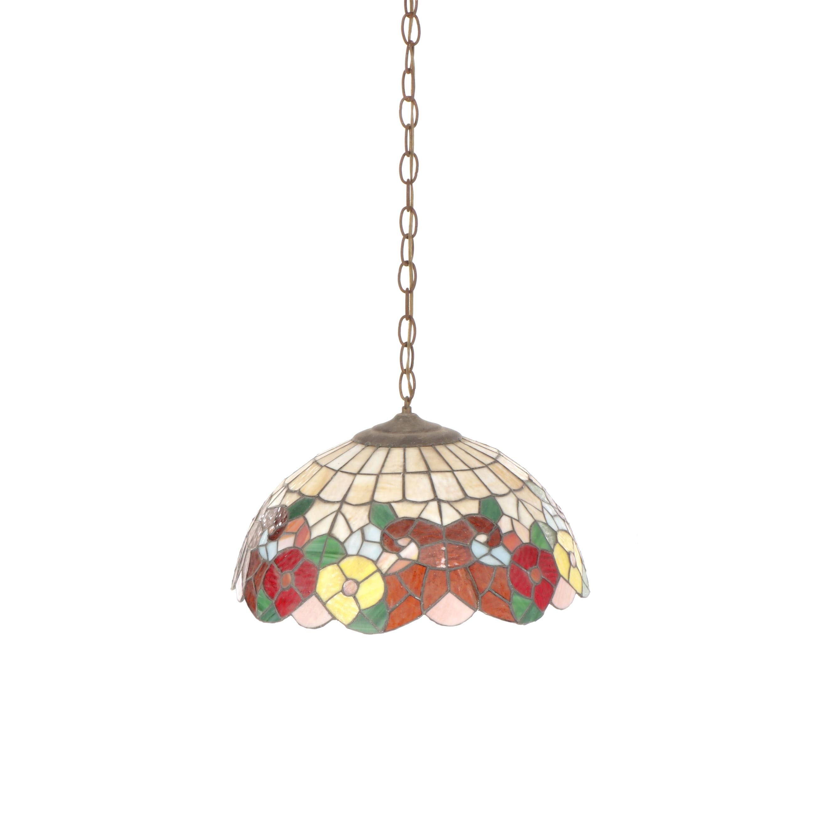 Stained Glass Style Resin Composite Ceiling Pendant