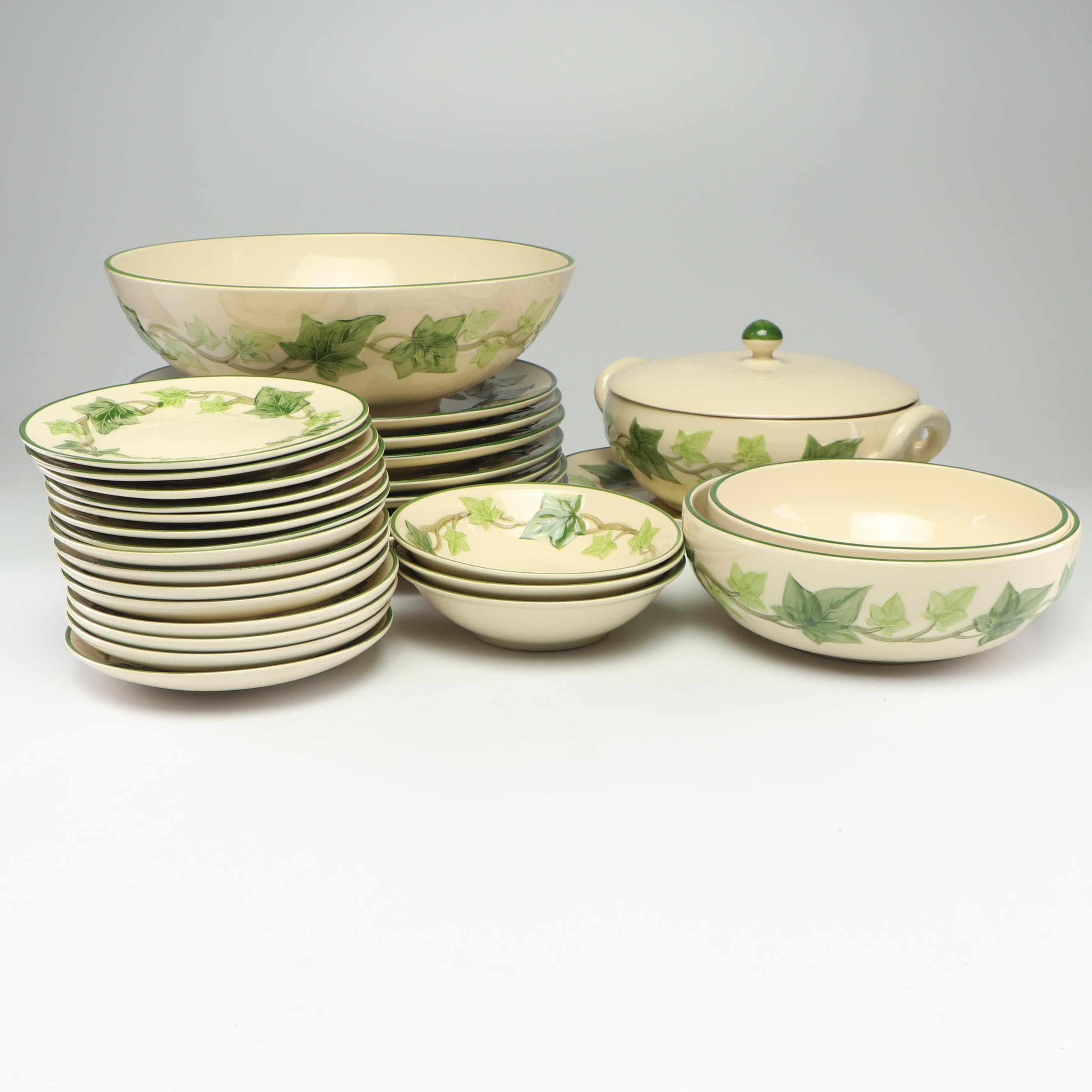"Franciscan ""Ivy"" Tableware, Mid to Late 20th Century"
